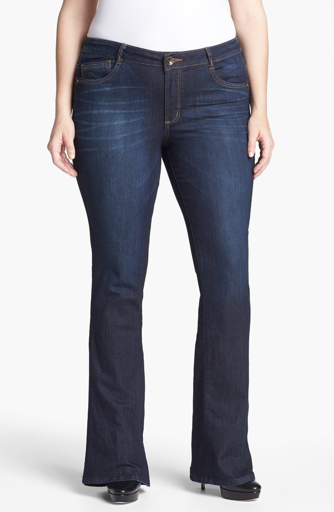 Main Image - Wit & Wisdom 'Itty Bitty' Bootcut Jeans (Plus Size) (Nordstrom Exclusive)