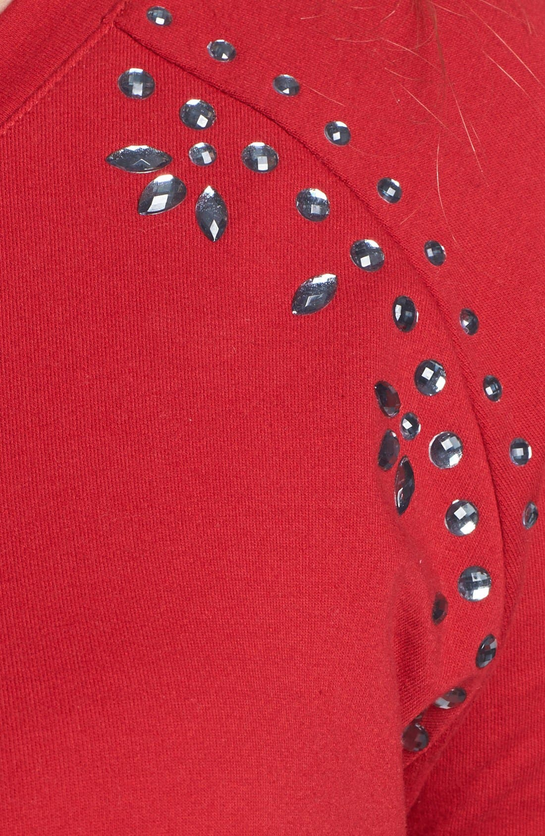 Alternate Image 3  - Two by Vince Camuto Jeweled Raglan Sleeve Sweatshirt (Plus Size)