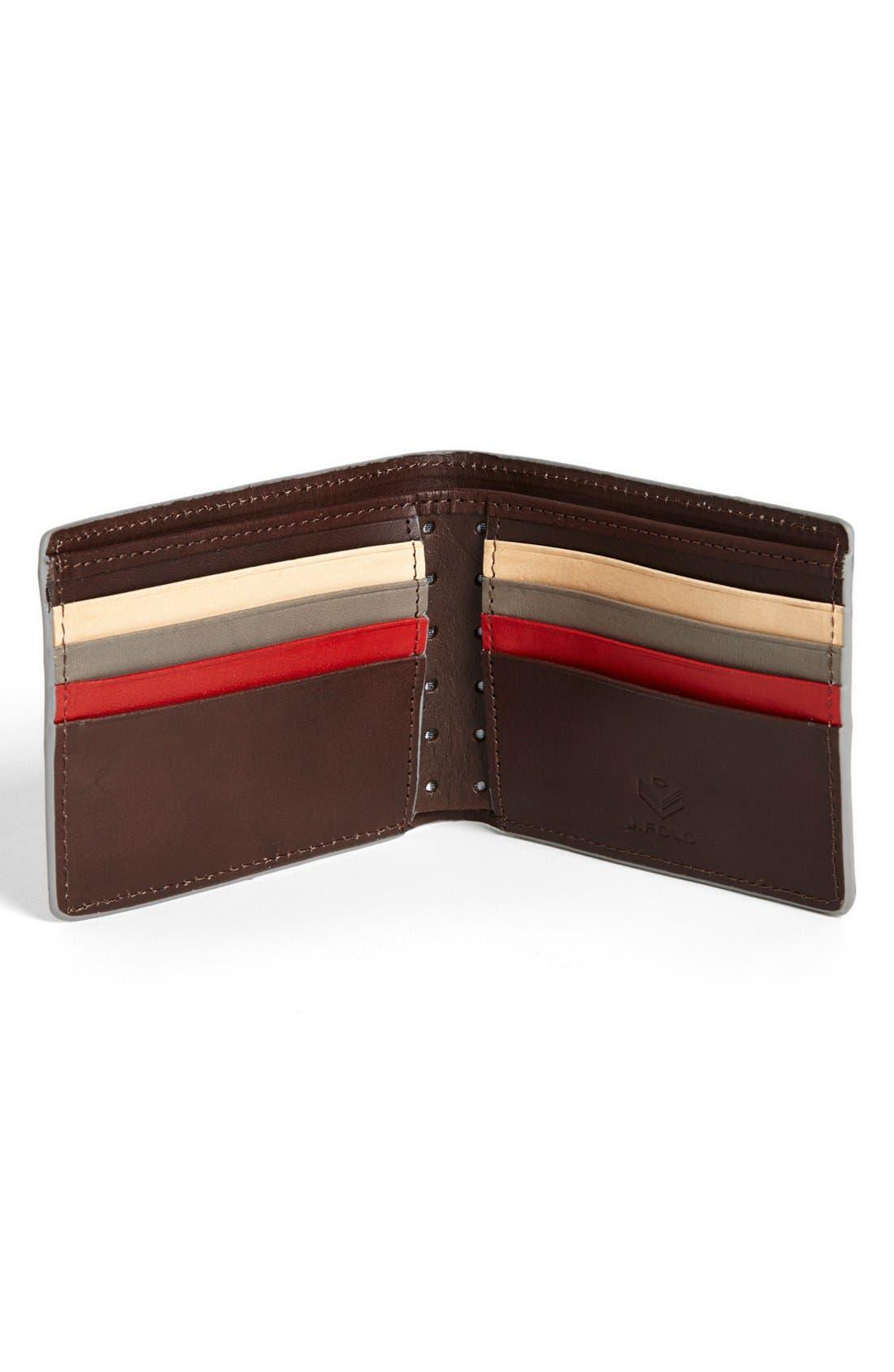 Alternate Image 2  - J Fold 'Havana' Slim Fold Wallet