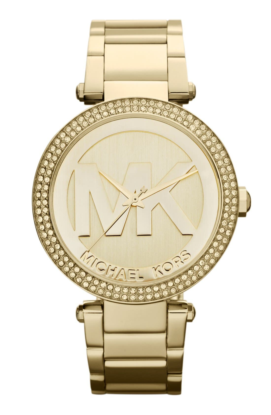 Alternate Image 1 Selected - Michael Kors Parker Logo Dial Bracelet Watch, 39mm