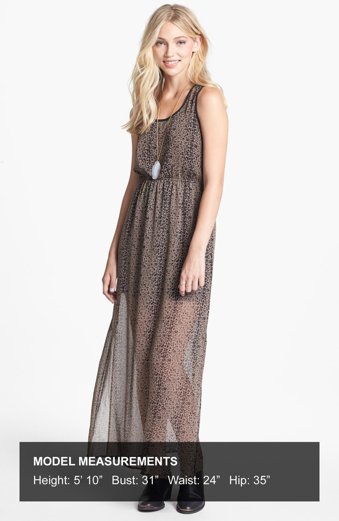 Alternate Image 4  - dee elle Racerback Print Maxi Dress (Juniors)