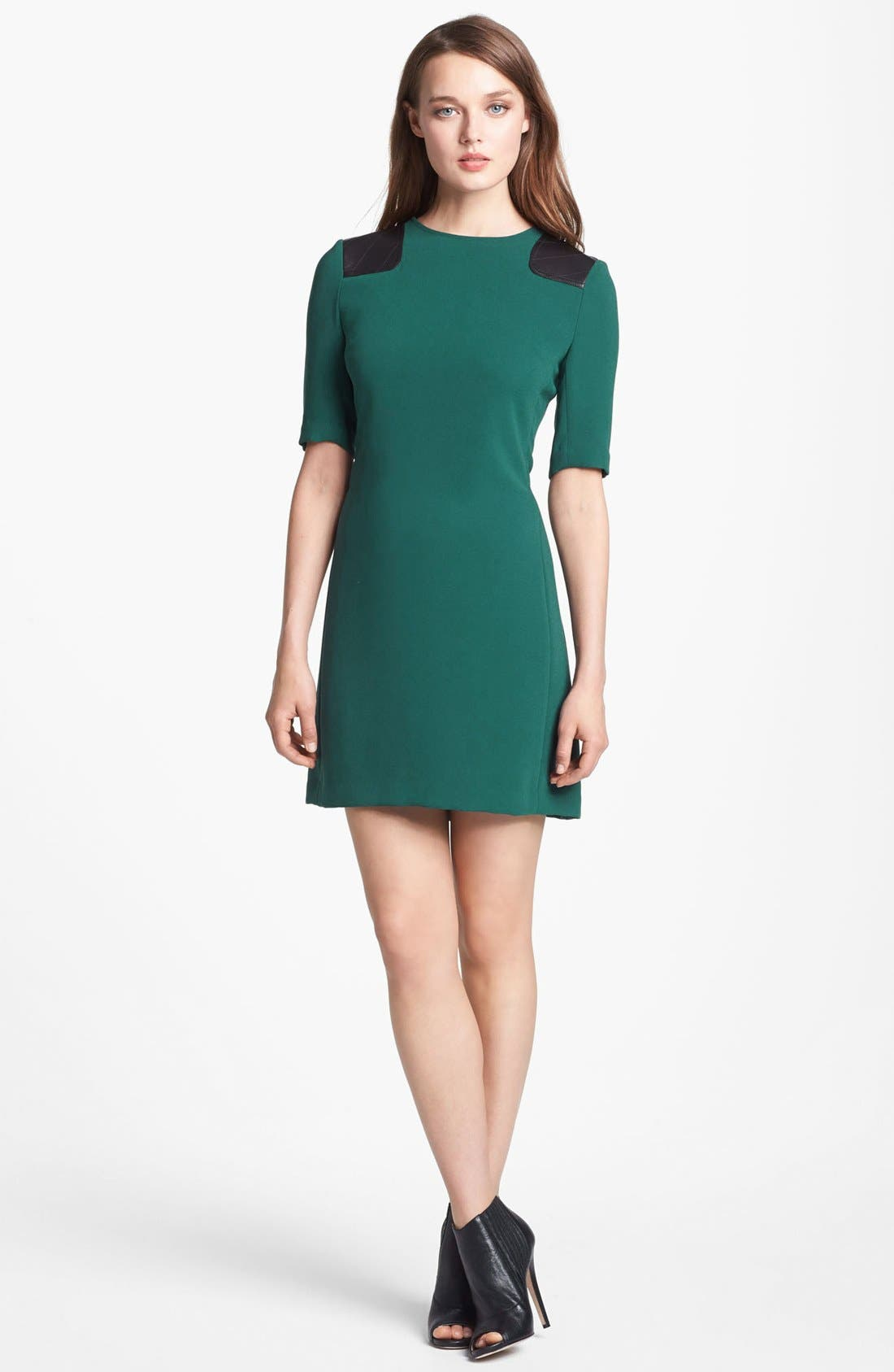 Main Image - MARC BY MARC JACOBS 'Sparks' Crepe & Leather Sheath Dress