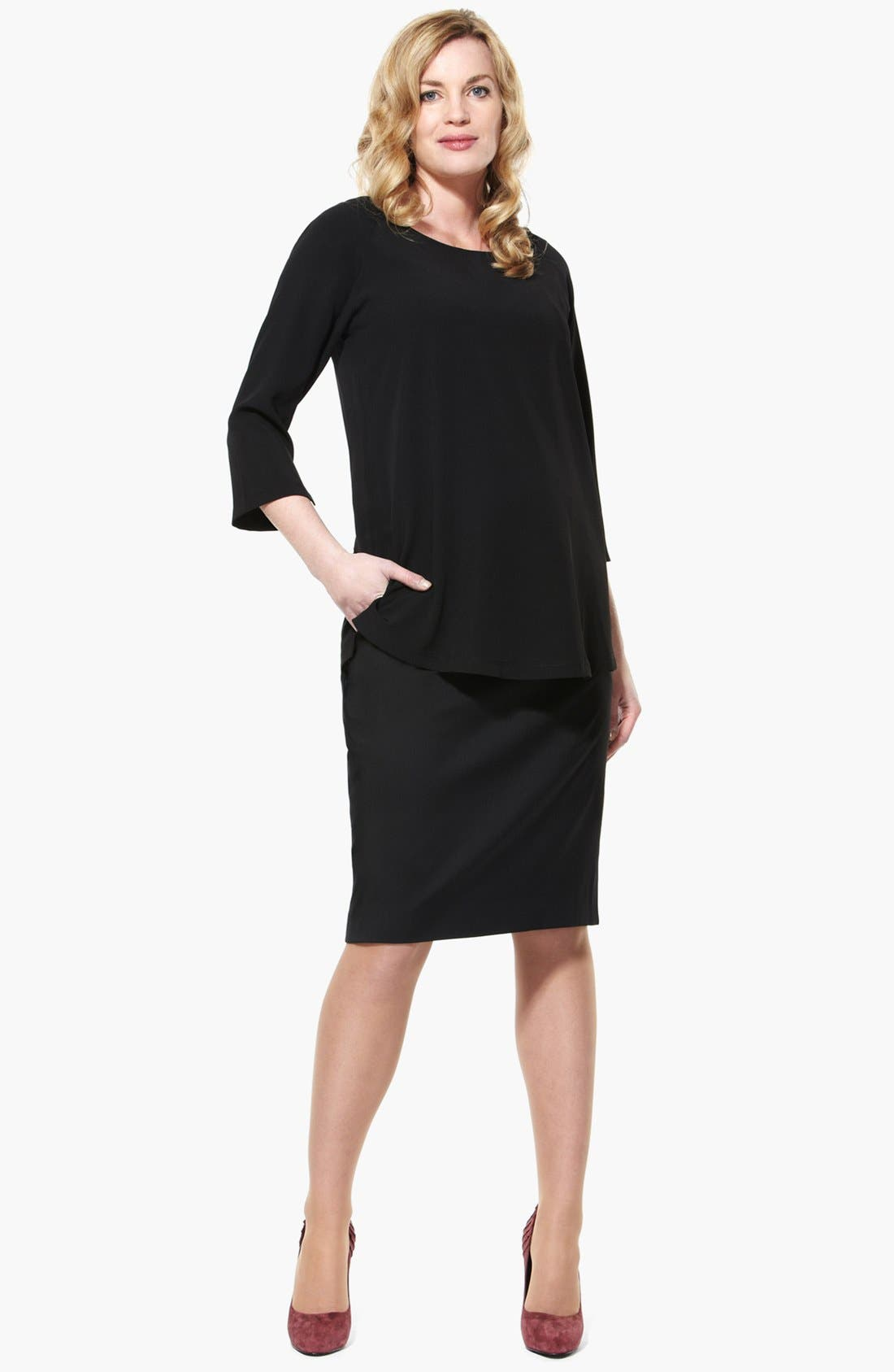 Alternate Image 4  - Eva Alexander London Tailored Maternity Pencil Skirt