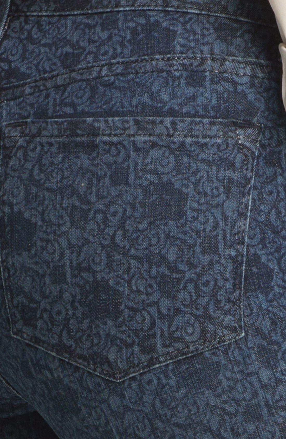 Alternate Image 3  - NYDJ 'Alisha' Print Stretch Ankle Skinny Jeans (Petite)