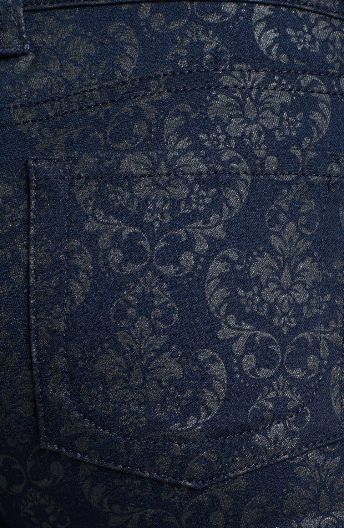 Alternate Image 3  - KUT from the Kloth 'Mia' Print Skinny Jeans (Indigo)