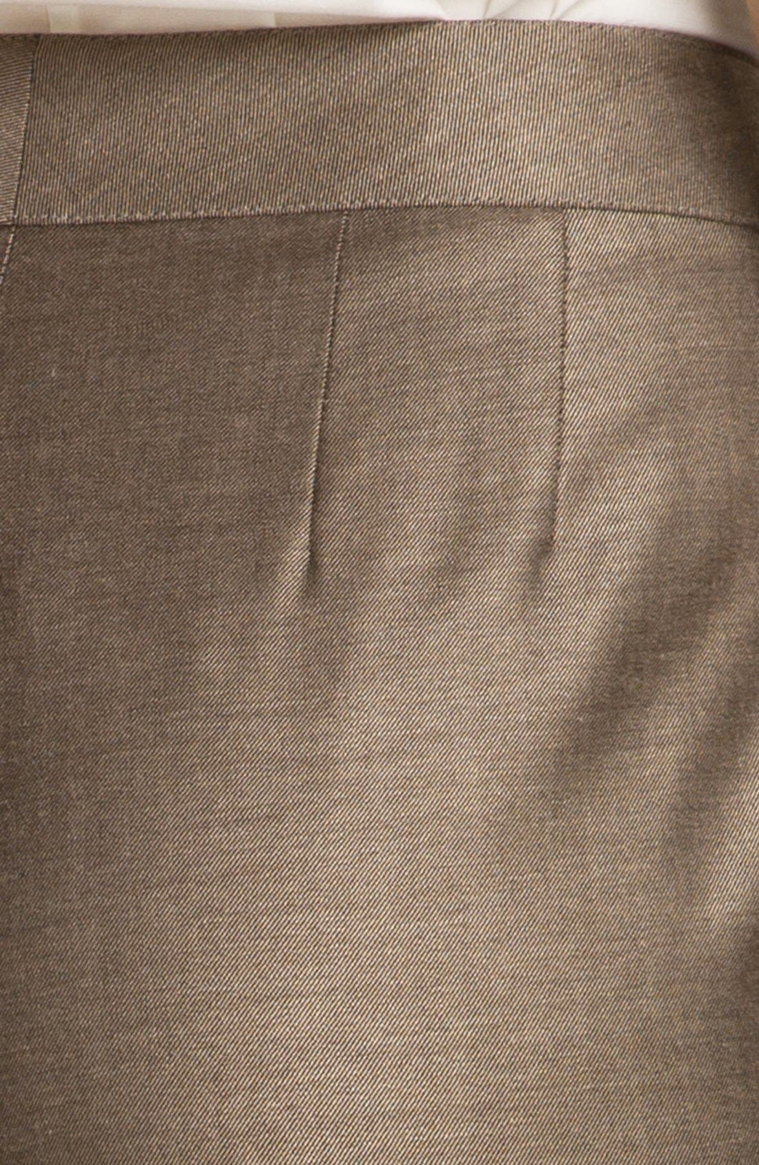 Alternate Image 5  - St. John Collection 'Emma' Shimmer Twill Crop Pants