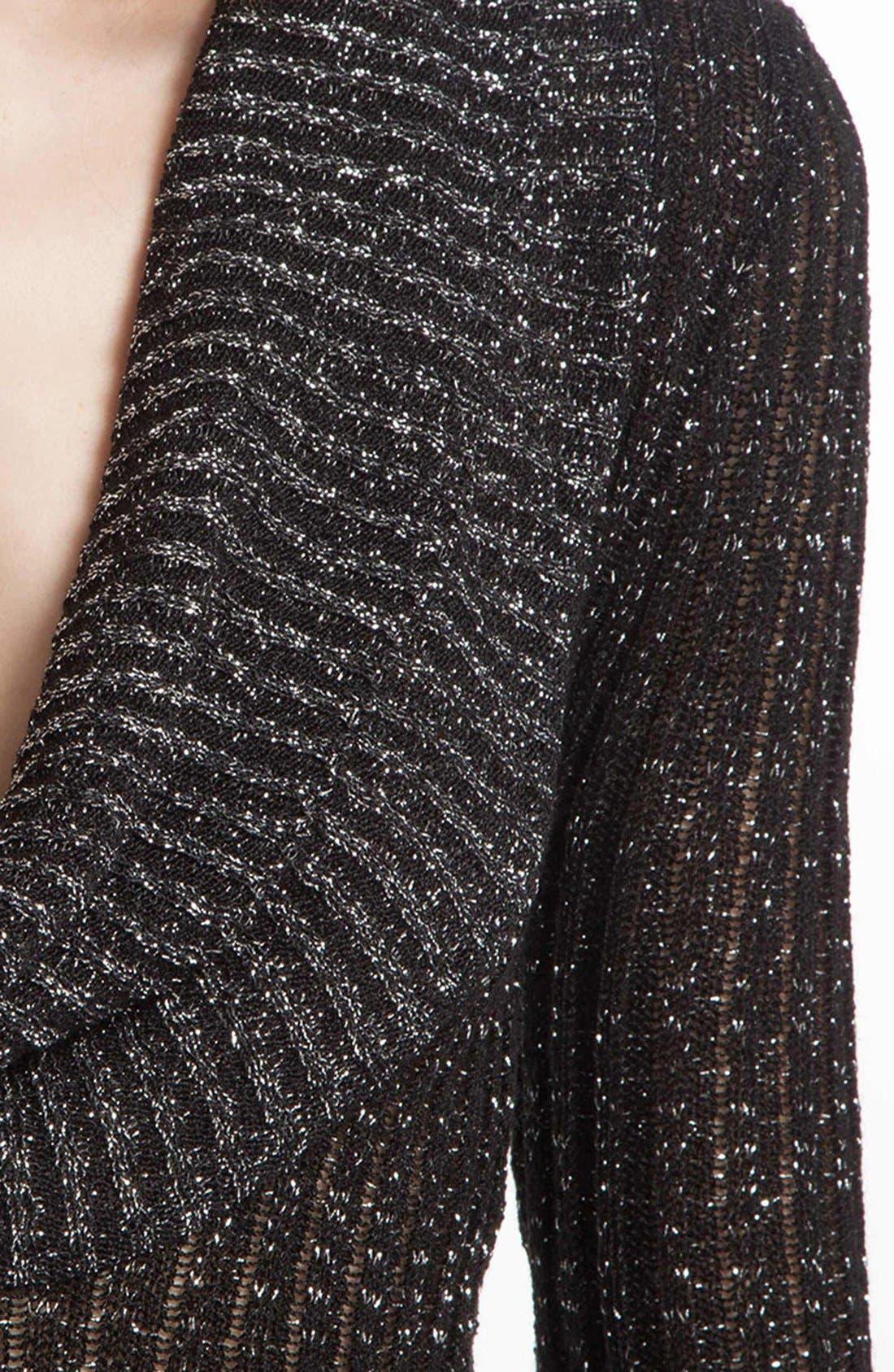 Alternate Image 3  - maje 'Diversite' Metallic Sweater Dress