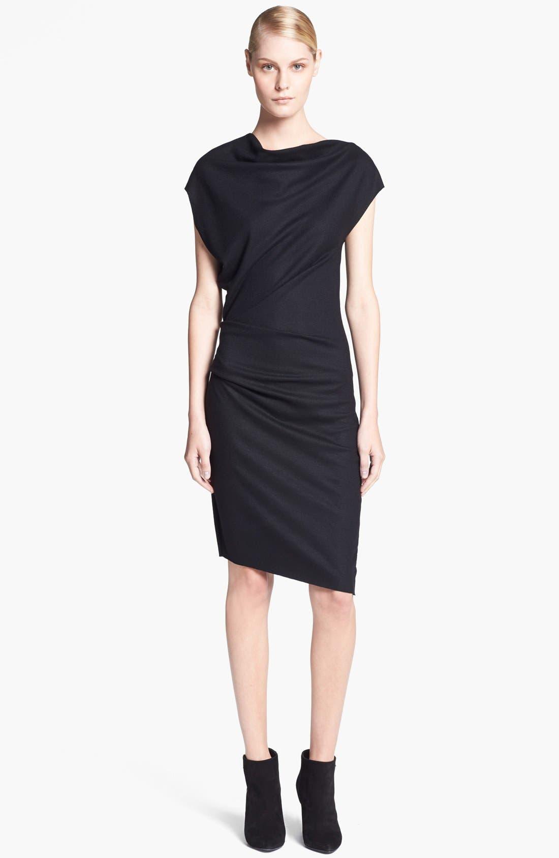 Main Image - Helmut Lang 'Sonar Wool' Asymmetrical Sleeve Dress