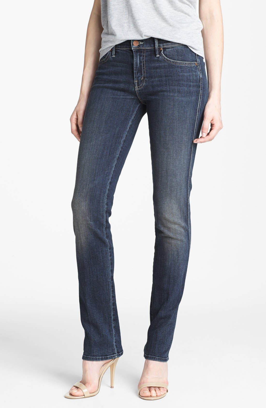 Alternate Image 1 Selected - MOTHER 'Rascal' Straight Leg Jeans (Here Kitty Kitty)