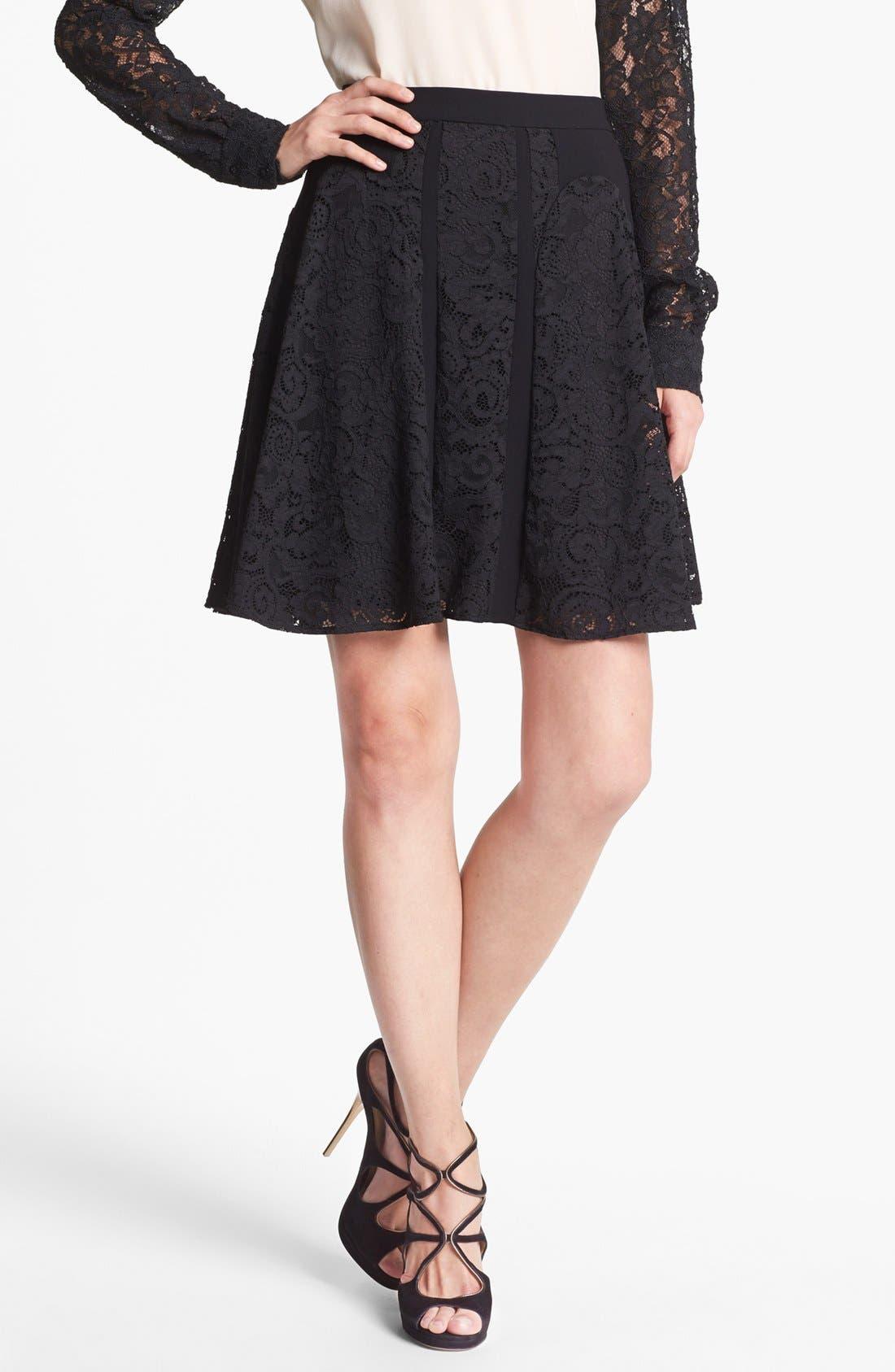 Alternate Image 1 Selected - Diane von Furstenberg 'Radella' Paneled Lace Skirt