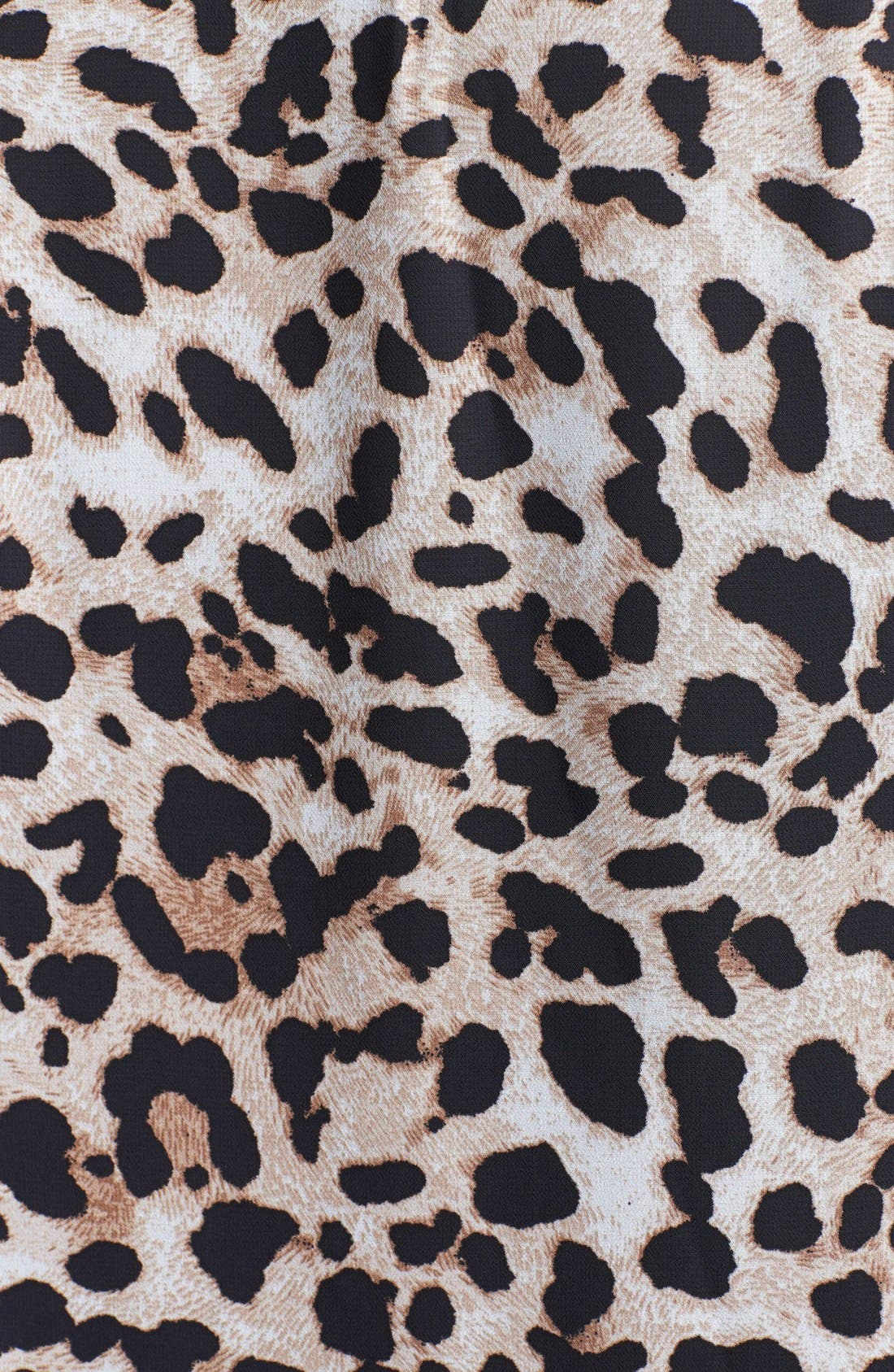 Alternate Image 3  - Vince Camuto Animal Print Wrap Front Blouse (Plus Size)