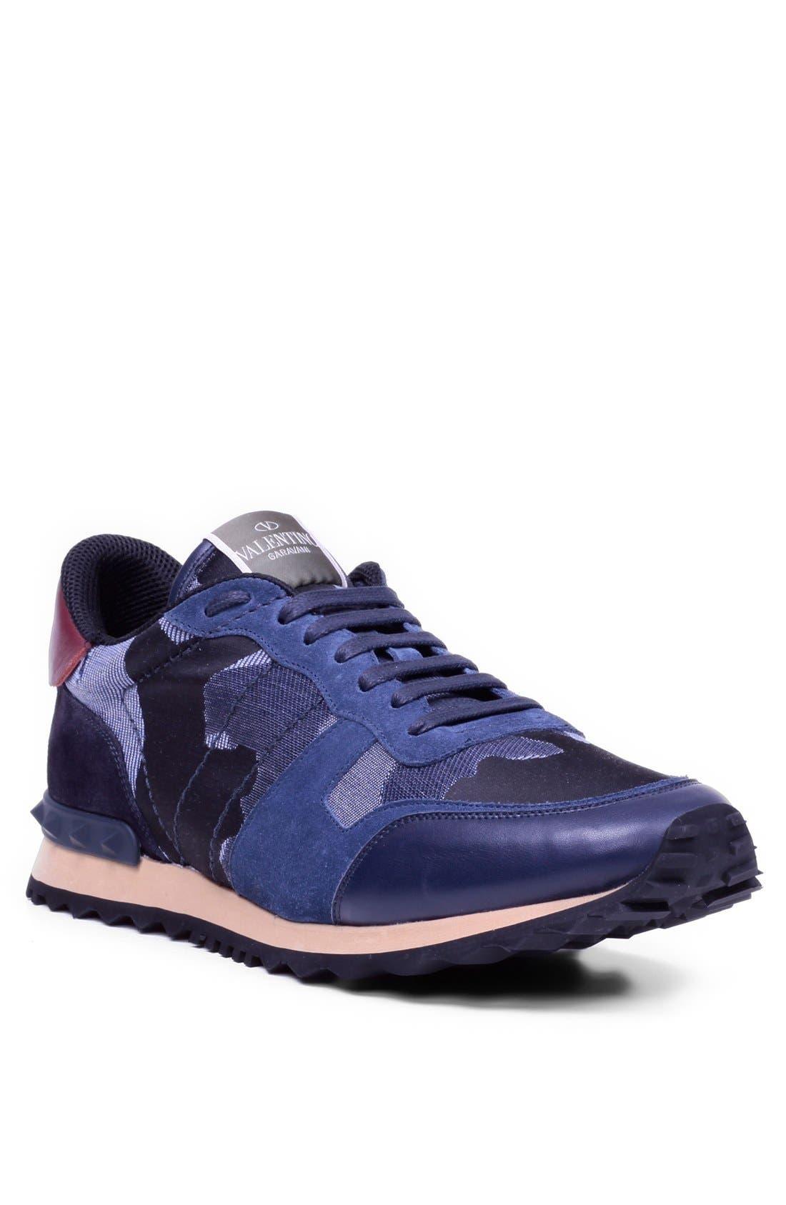 Alternate Image 1 Selected - Valentino Camouflage Sneaker (Men)