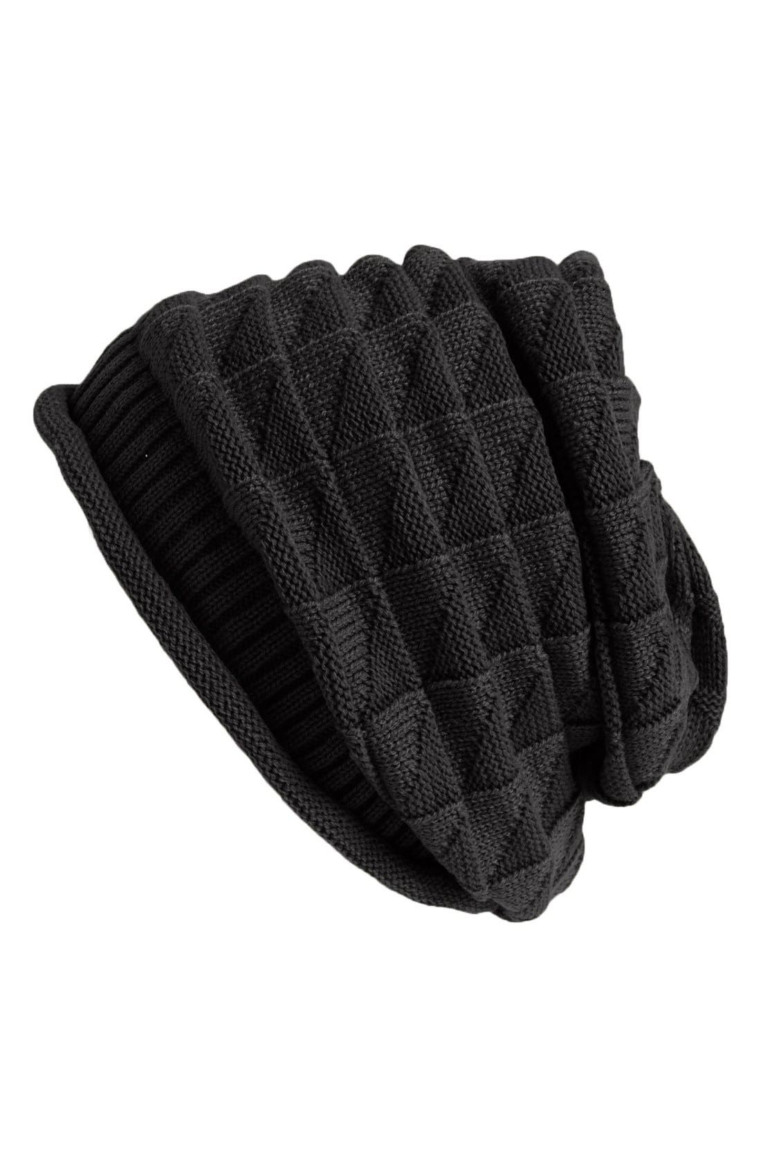Alternate Image 1 Selected - Amici Accessories Square Knit Beanie (Juniors) (Online Only)
