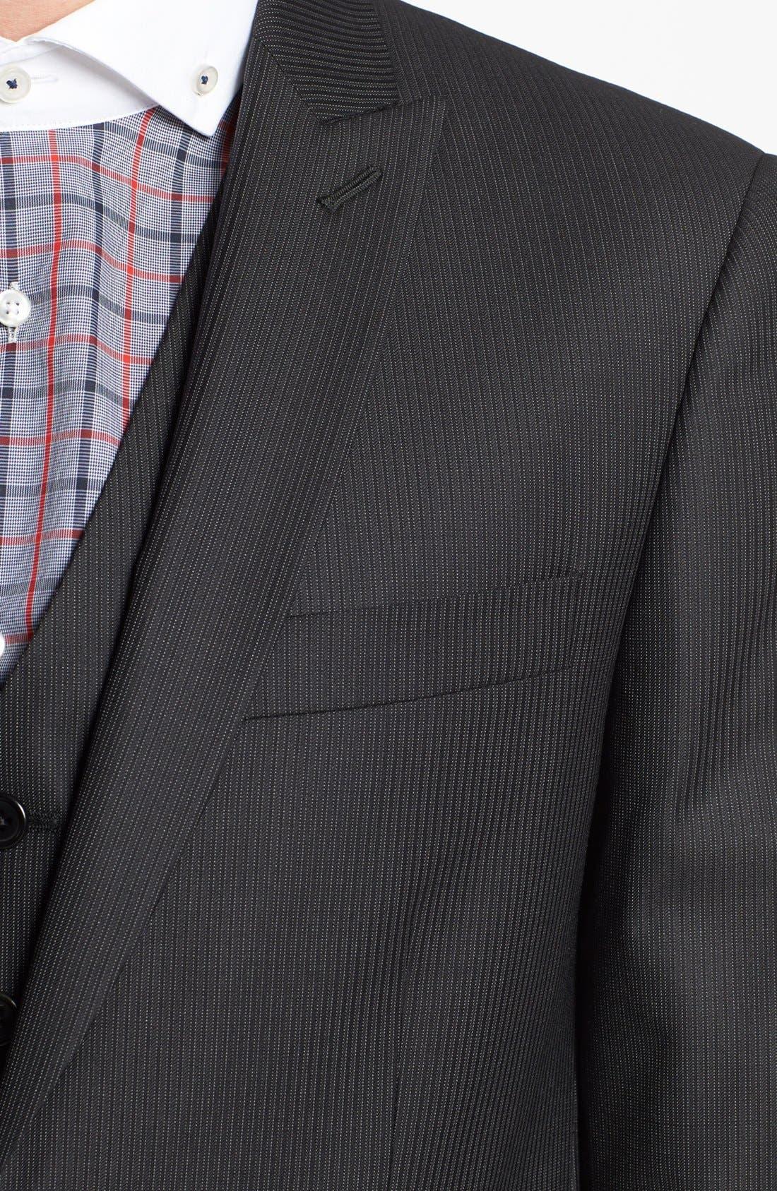 Alternate Image 6  - John Varvatos Star USA Trim Fit Three-Piece Wool Suit