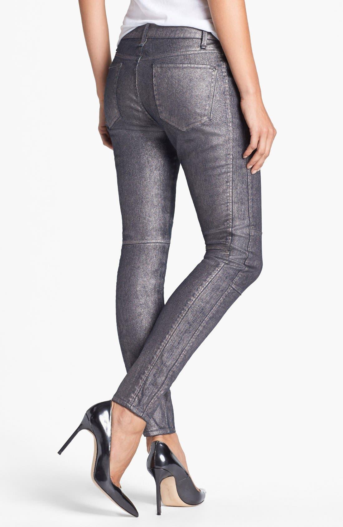 Alternate Image 2  - MARC BY MARC JACOBS Seamed Cigarette Leg Jeans (Gunmetal)