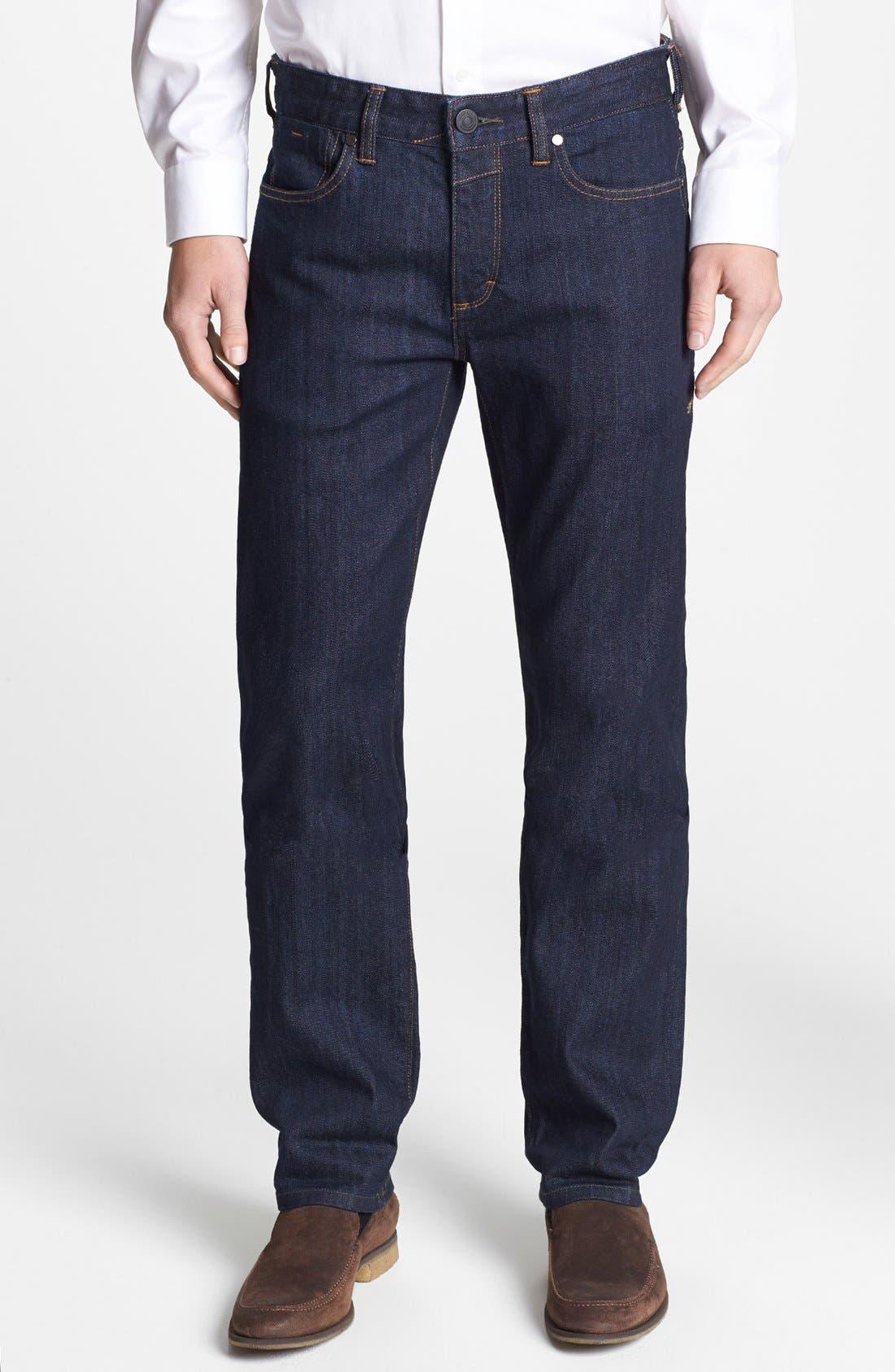 Alternate Image 1 Selected - Tommy Bahama 'Walker' Straight Leg Jeans (Dark Storm)