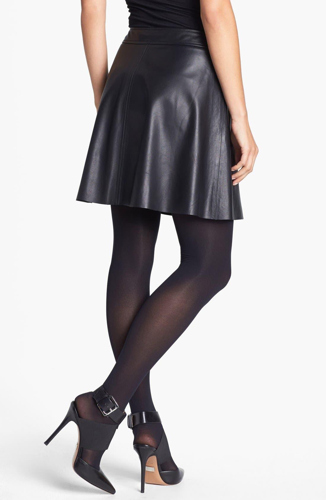 Alternate Image 2  - Trina Turk 'Lanni' Leather Flare Skirt