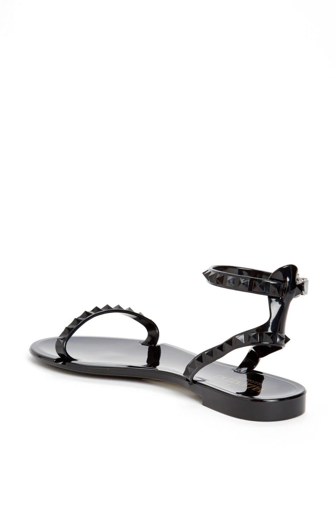 Alternate Image 2  - Valentino 'Rockstud' Ankle Strap Sandal