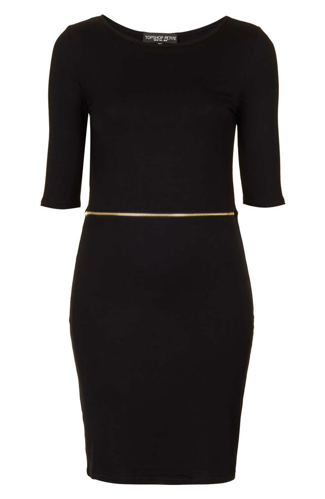 Alternate Image 1 Selected - Topshop Zip Waist Body-Con Dress