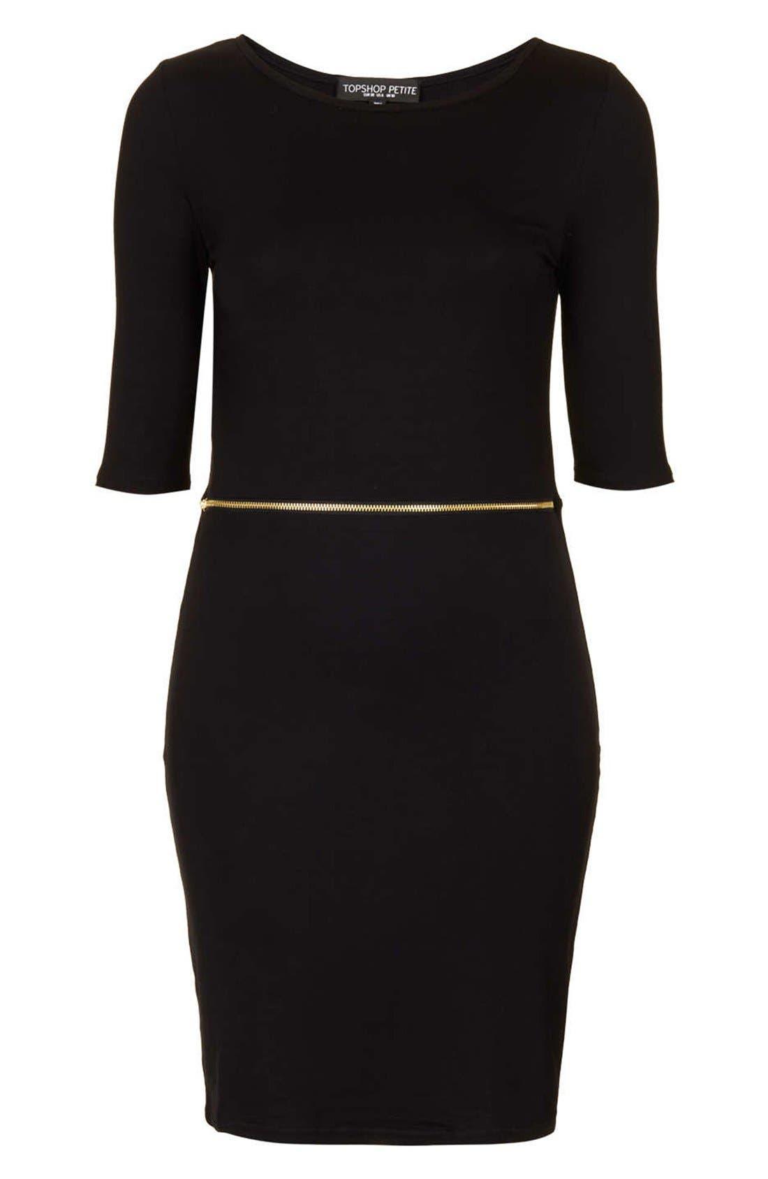 Main Image - Topshop Zip Waist Body-Con Dress