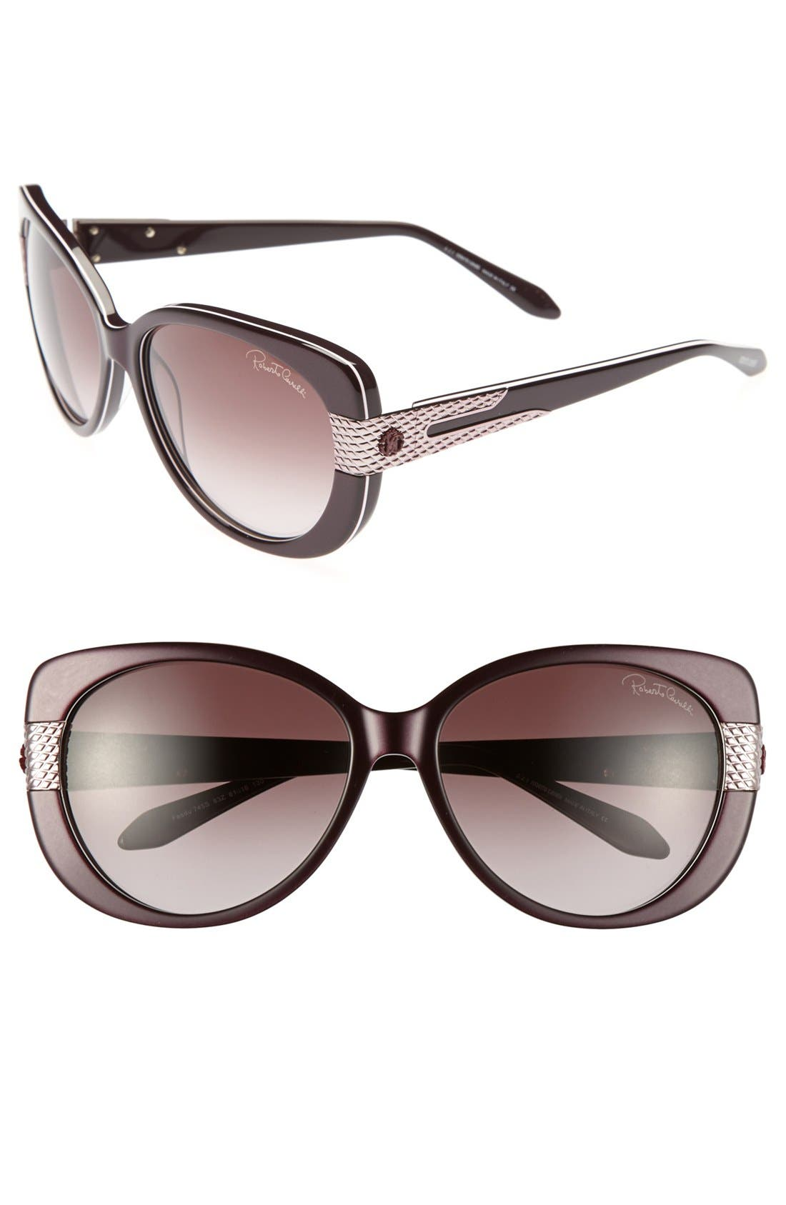 Alternate Image 1 Selected - Roberto Cavalli 'Fesdu' 61mm Sunglasses