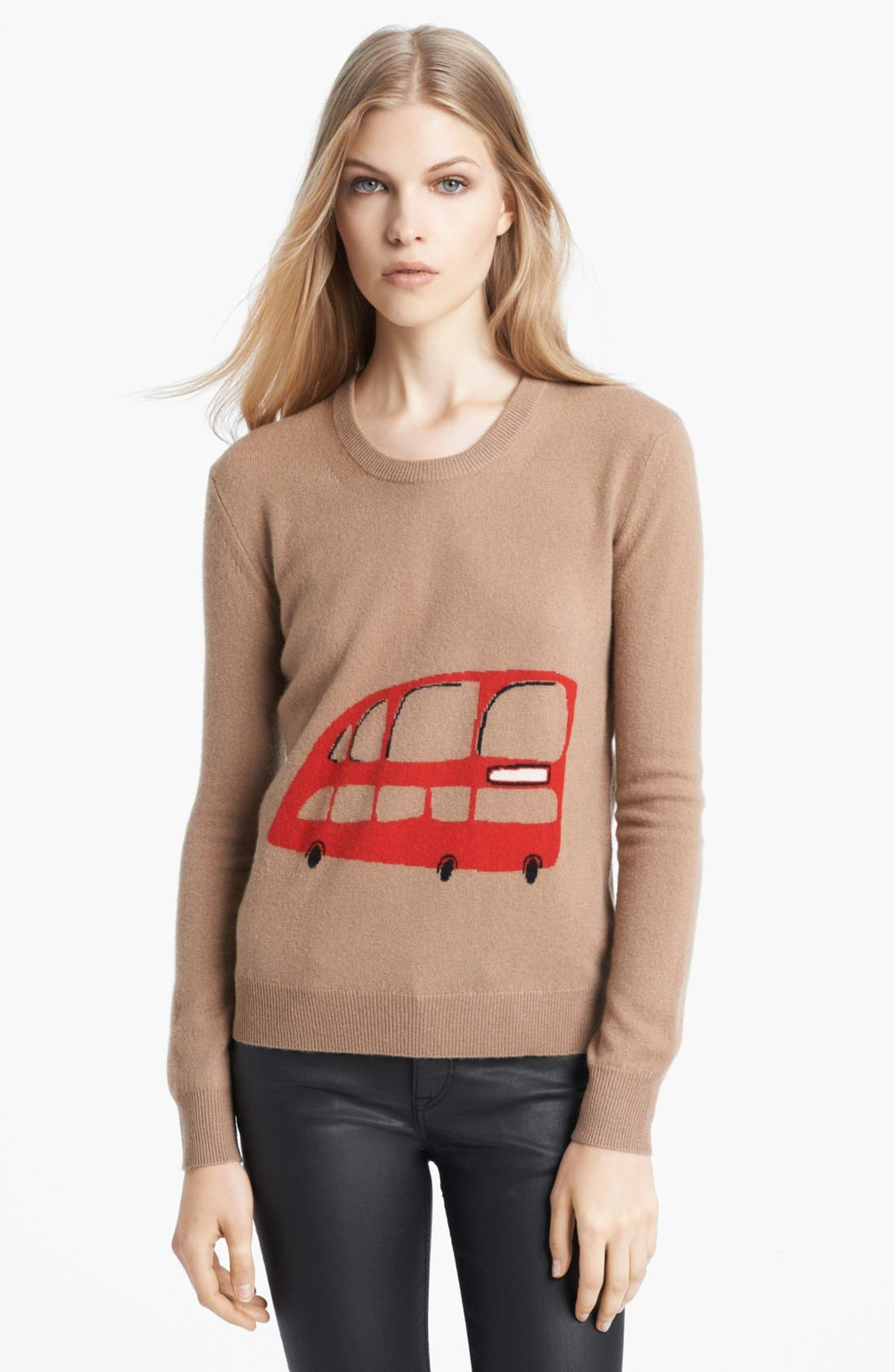 Alternate Image 1 Selected - Burberry Brit Wool & Cashmere Intarsia Sweater