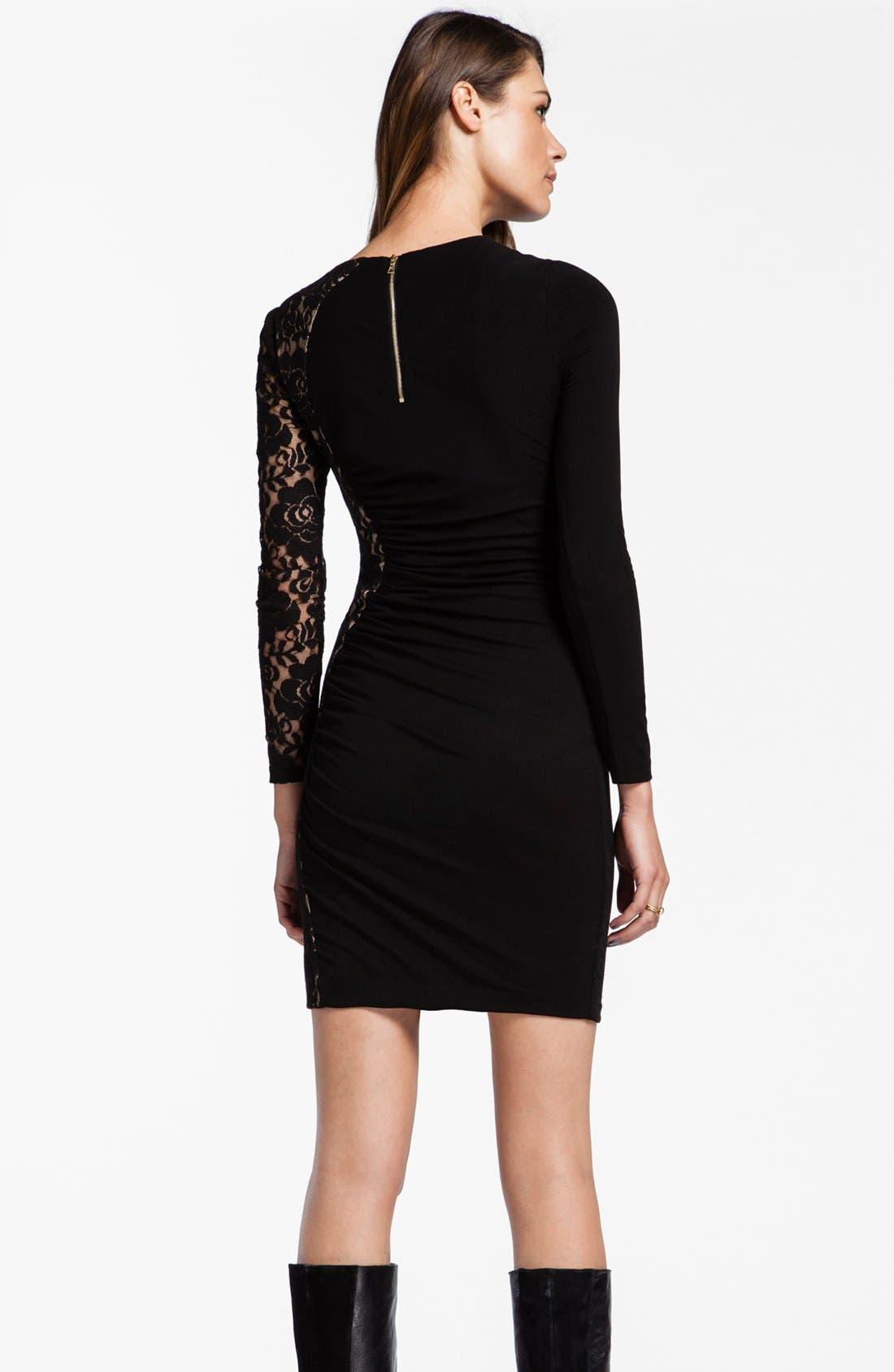Alternate Image 2  - Cynthia Steffe 'Jordana' Asymmetrical Lace Ruched Sheath Dress