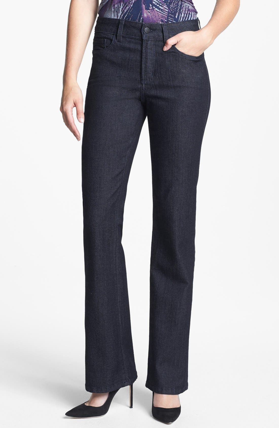 Alternate Image 1 Selected - NYDJ 'Barbara' Embellished Bootcut Jeans (Dark Enzyme) (Regular & Petite)