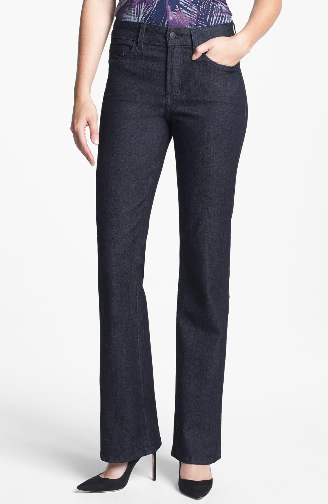 Main Image - NYDJ 'Barbara' Embellished Bootcut Jeans (Dark Enzyme) (Regular & Petite)