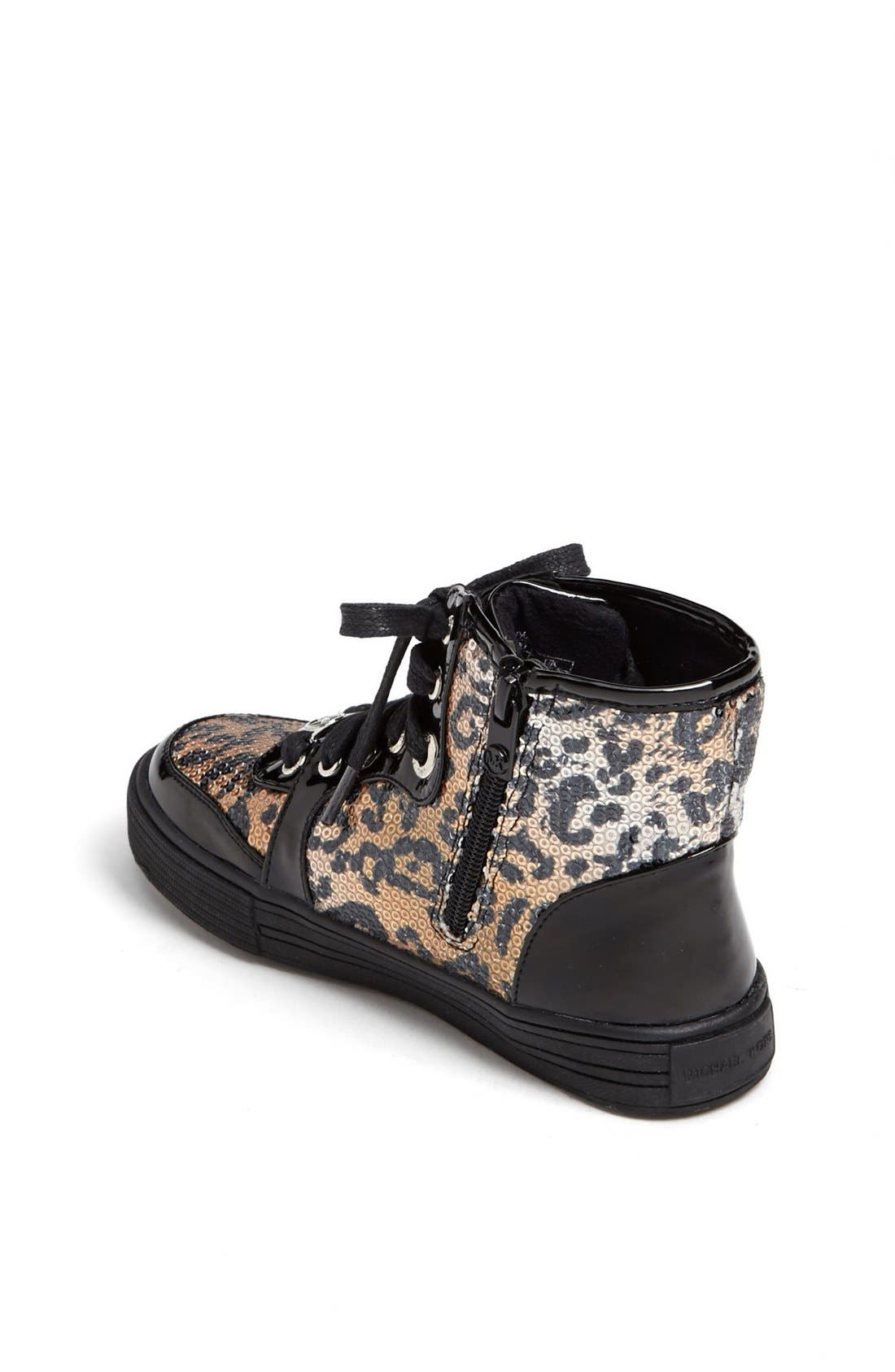 Alternate Image 2  - MICHAEL Michael Kors 'Ivy' High Top Sneaker (Walker, Toddler, Little Kid & Big Kid)
