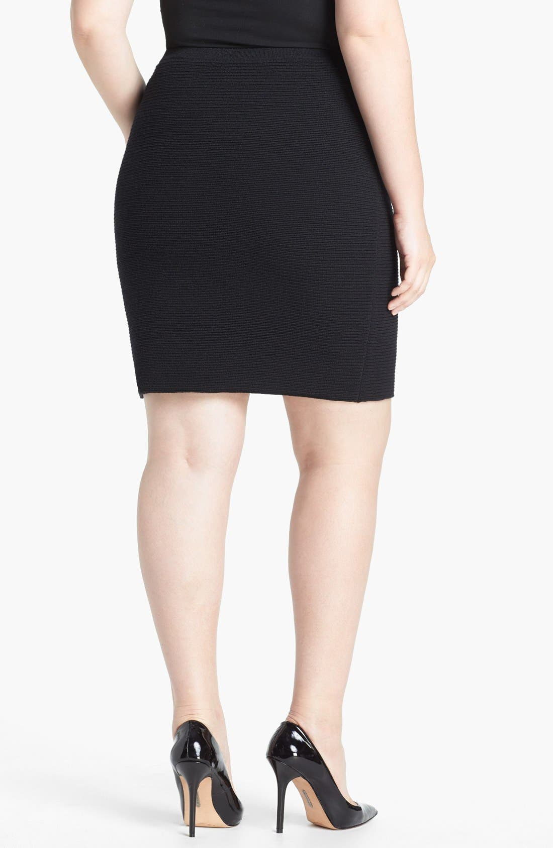 Alternate Image 2  - Eileen Fisher Knit Pencil Skirt (Plus Size)
