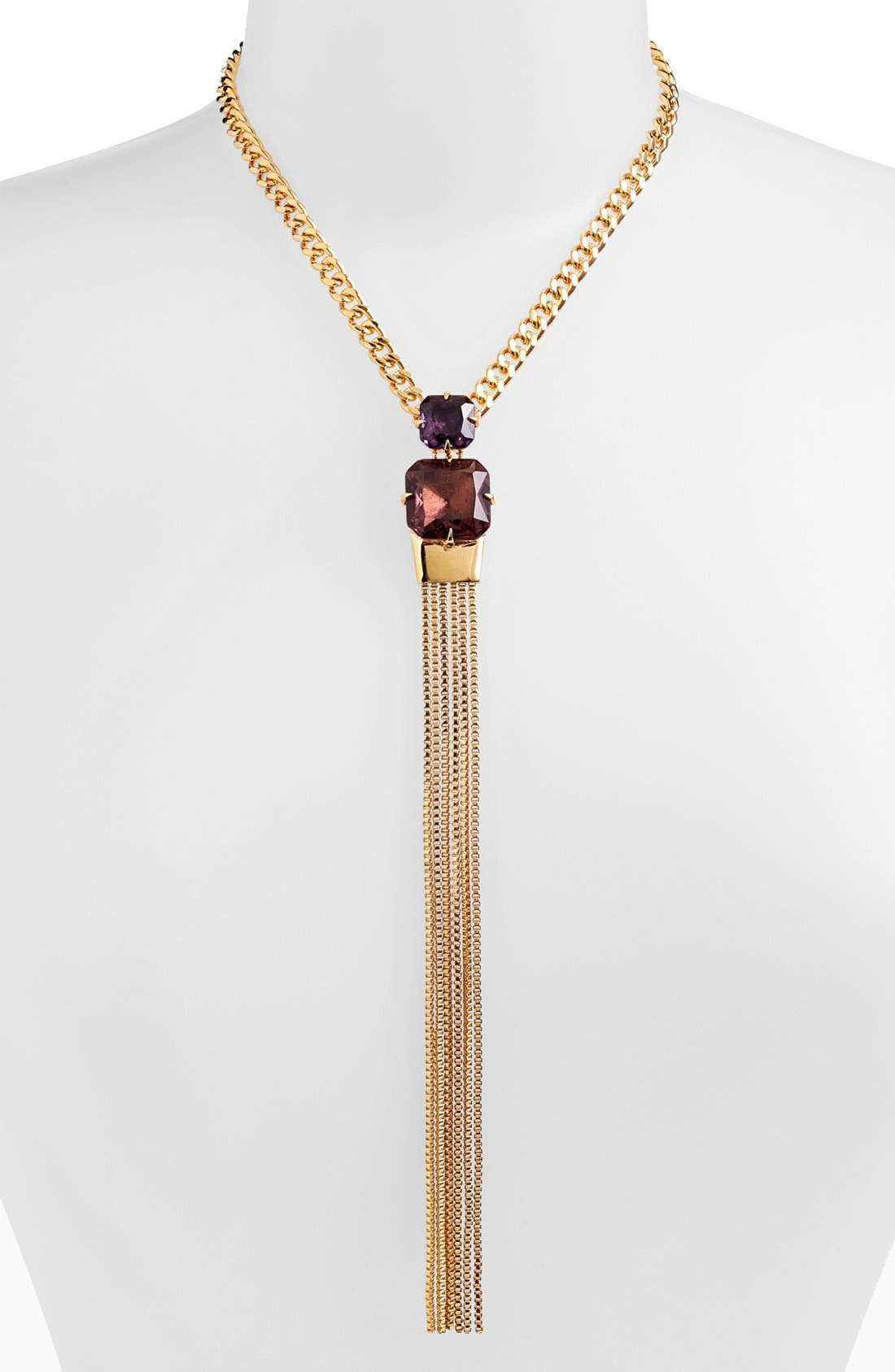 Alternate Image 1 Selected - Vince Camuto 'Jewel Purpose' Stone Tassel Pendant Necklace