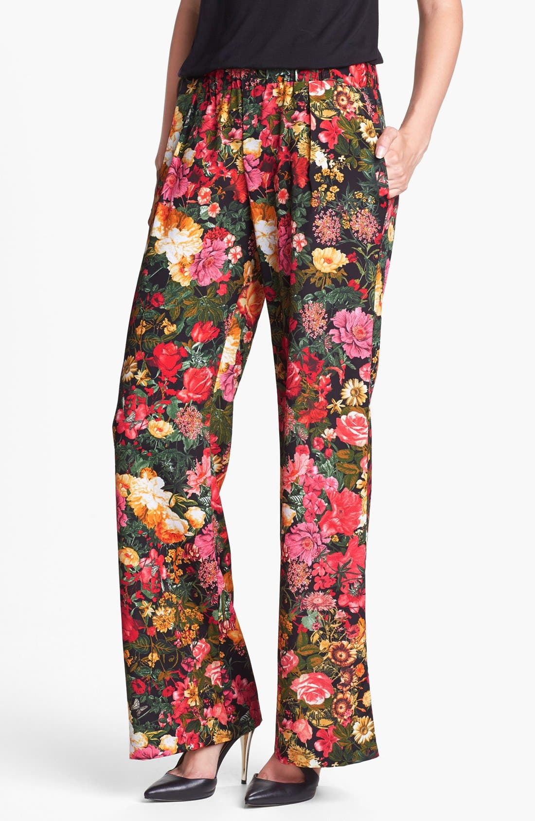 Alternate Image 1 Selected - WAYF Print Wide Leg Pants