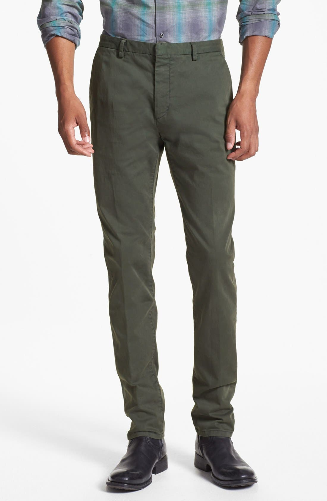 Alternate Image 1 Selected - HUGO 'Helgo-D' Flat Front Chinos