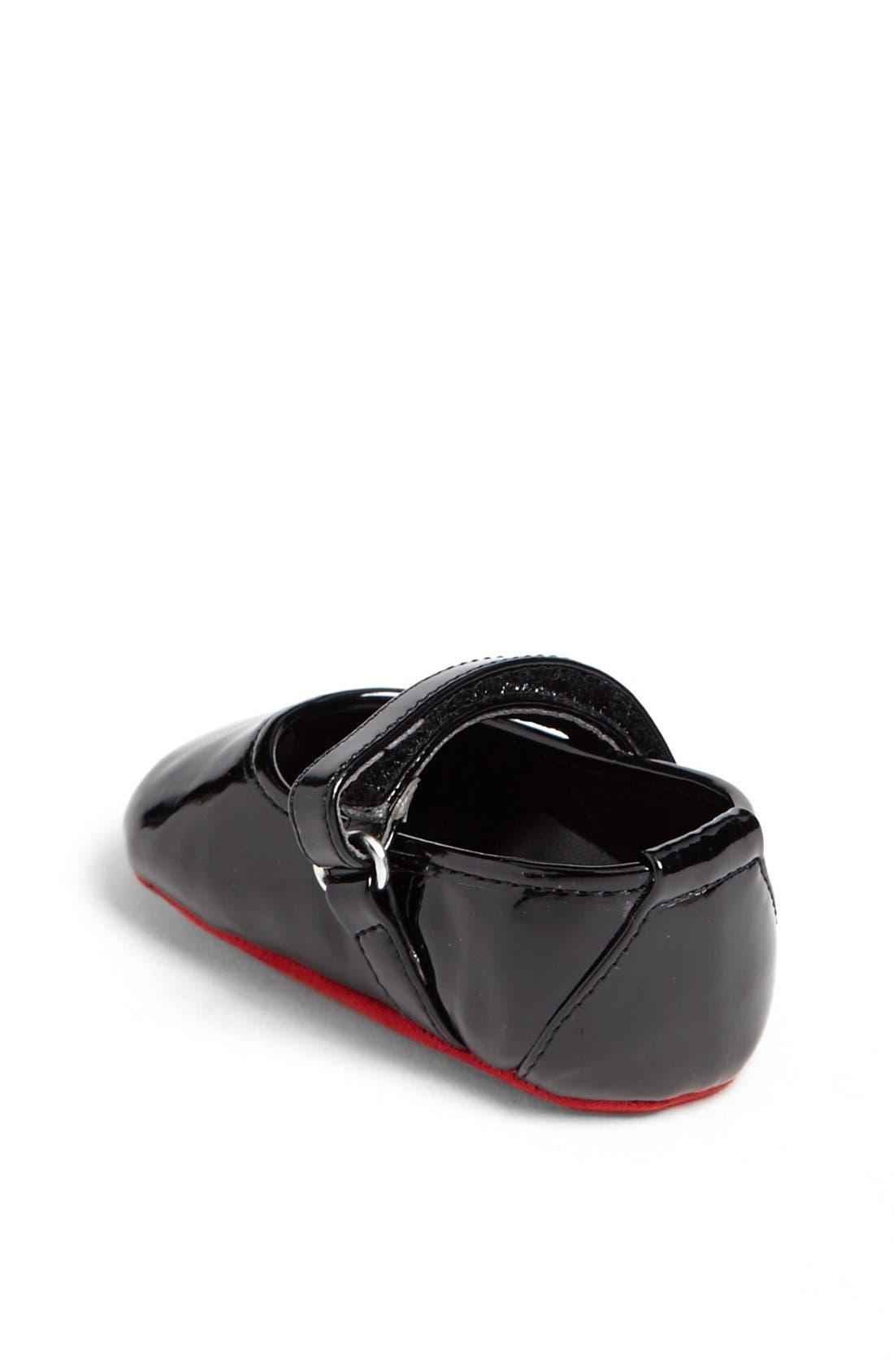Alternate Image 2  - Stuart Weitzman 'Baby Caviar' Patent Crib Shoe (Baby)