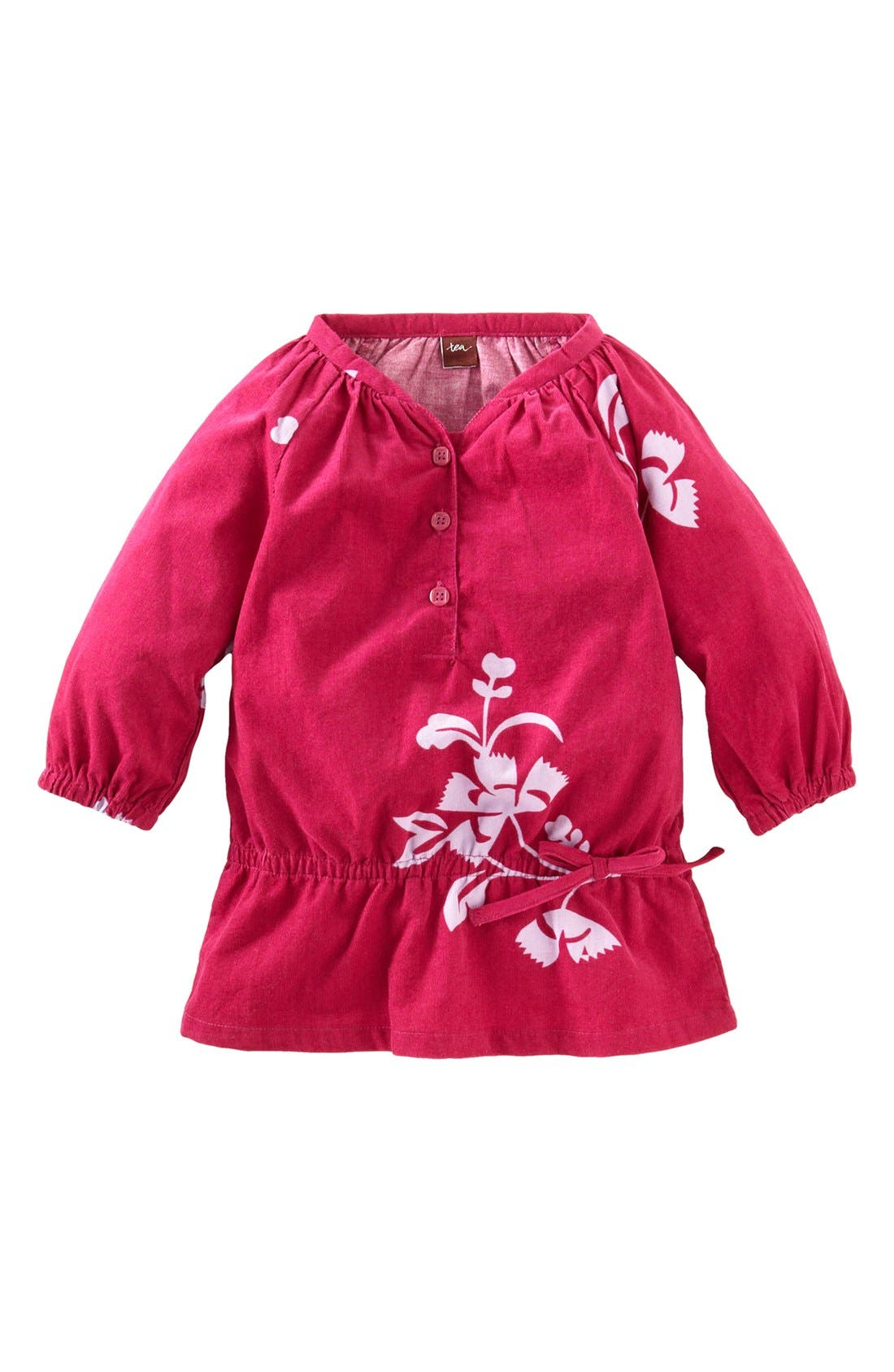 Main Image - Tea Collection 'Floral Cozy' Corduroy Top (Little Girls & Big Girls)