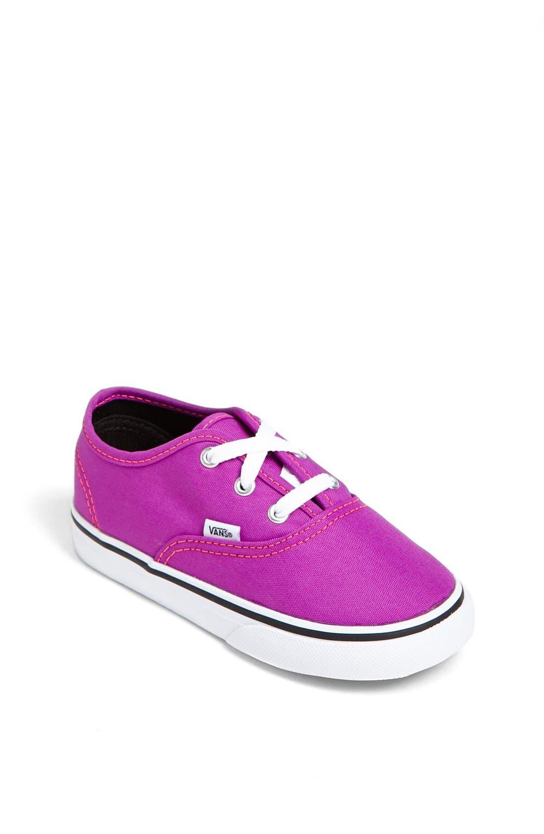 Alternate Image 1 Selected - Vans 'Authentic' Neon Sneaker (Baby, Walker & Toddler)