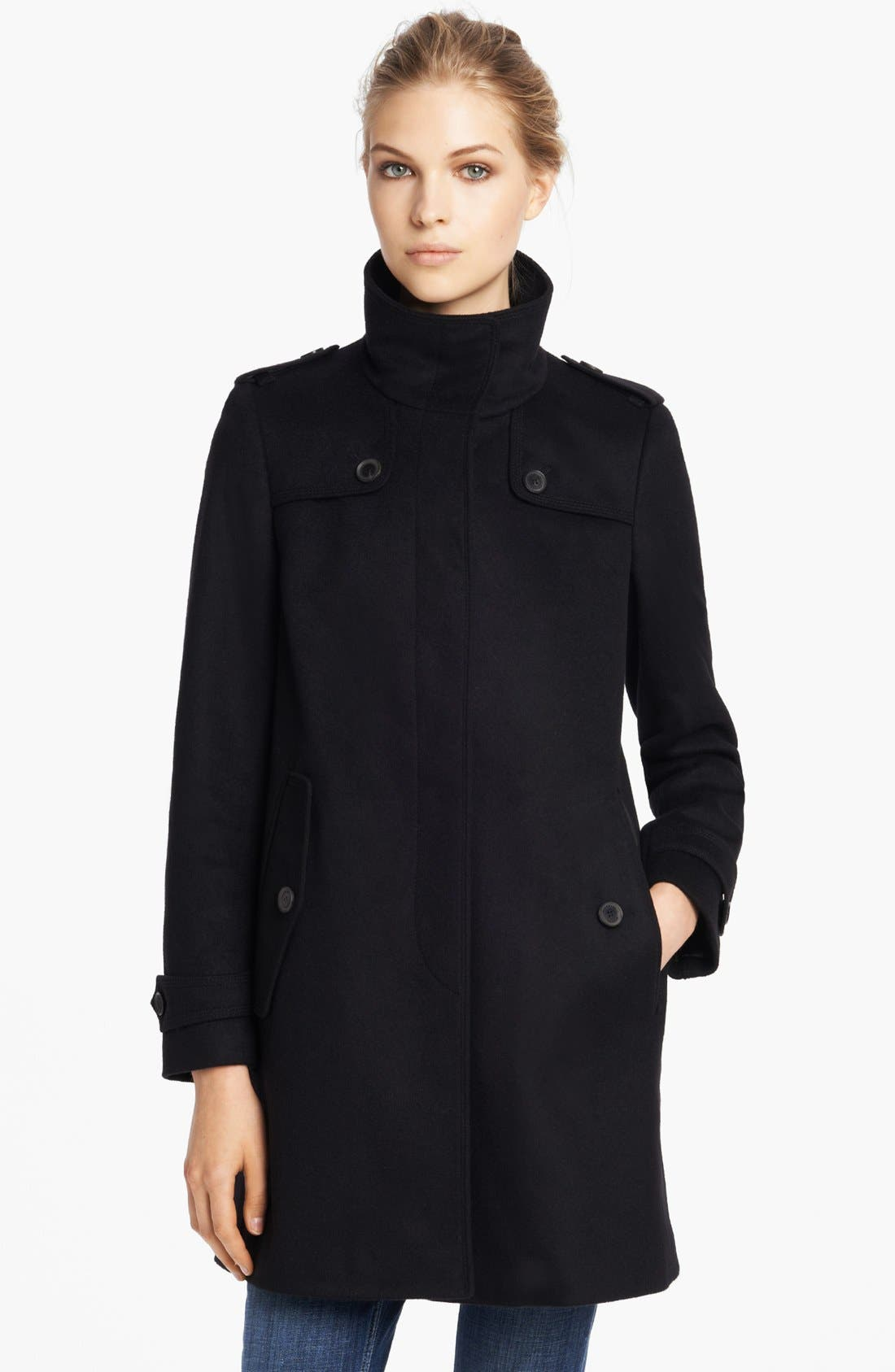 Alternate Image 1 Selected - Burberry London Wool & Cashmere Caban Coat