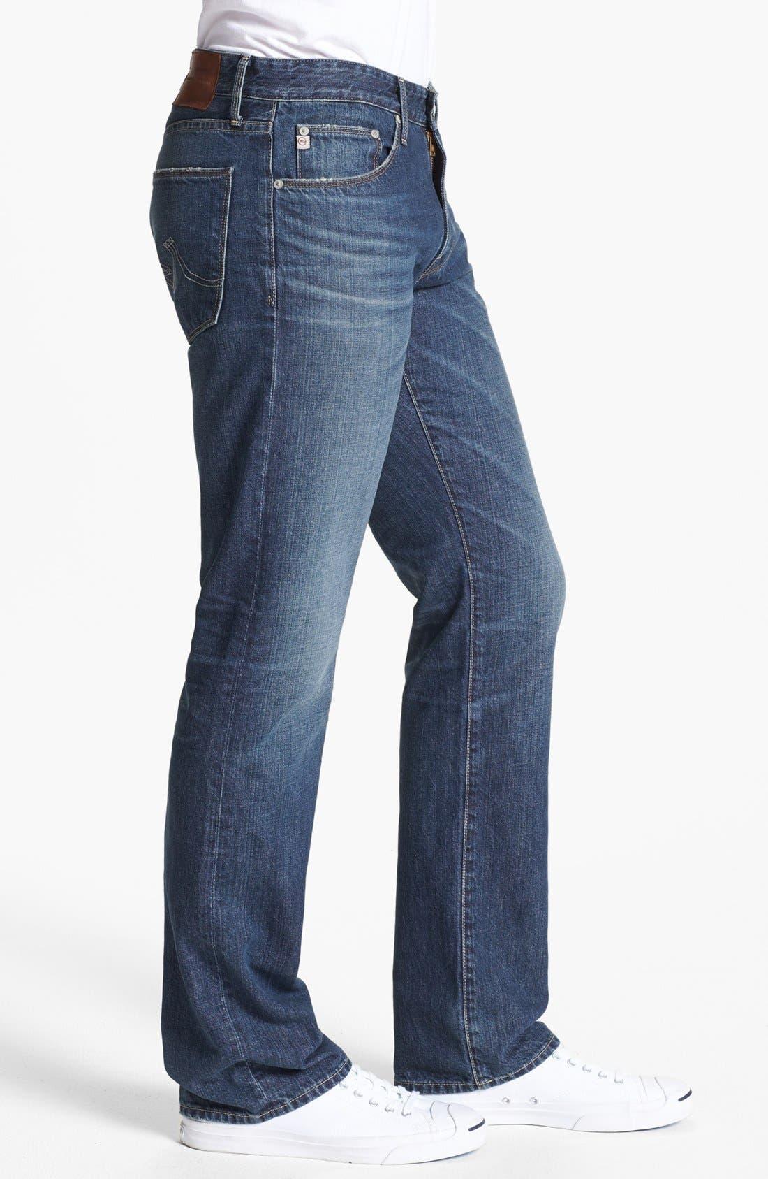 Alternate Image 3  - AG 'Protégé' Straight Leg Jeans (18 Years Carve)