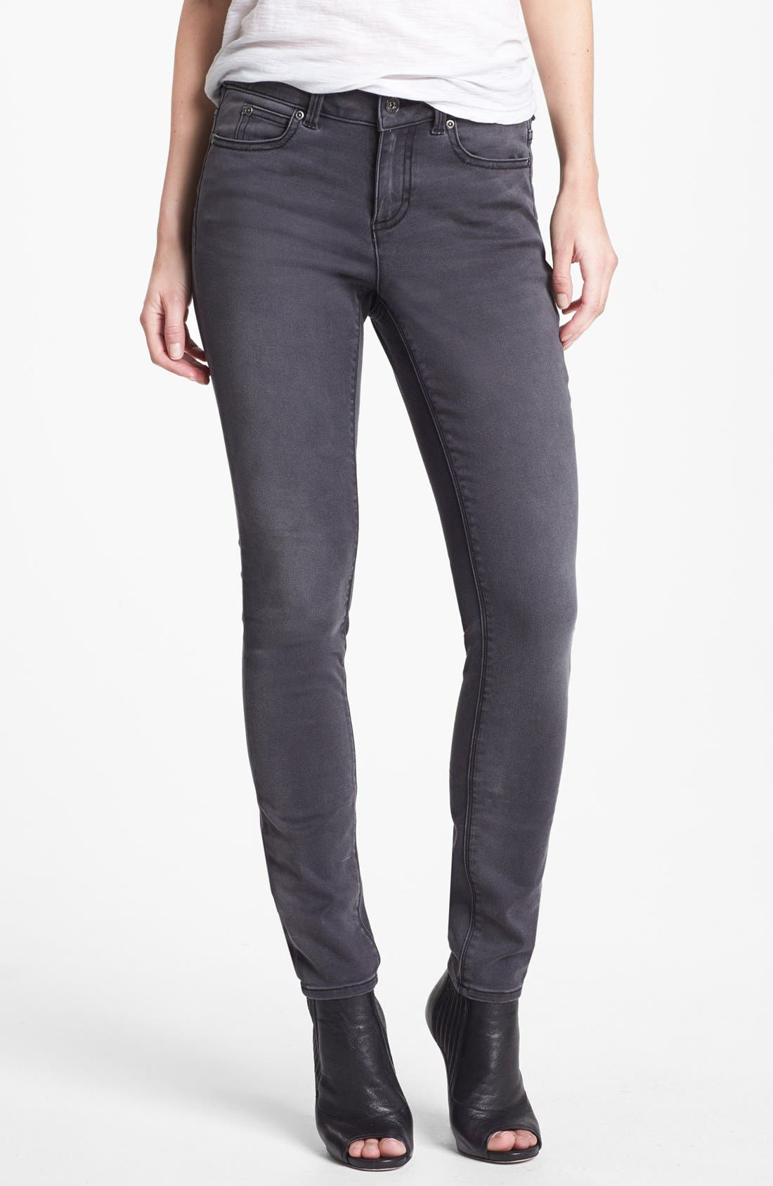 Main Image - Two by Vince Camuto 'Stone' Stretch Skinny Jeans (Dark Stone)