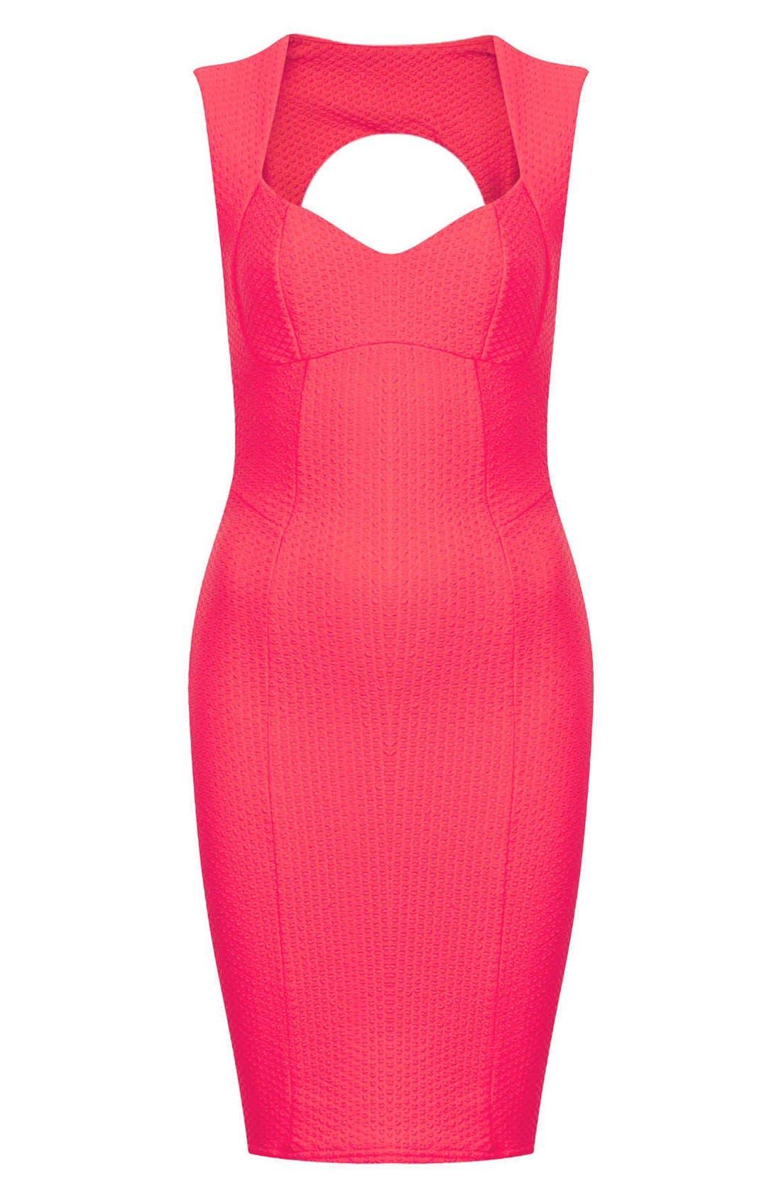 Alternate Image 3  - Topshop Sweetheart Neckline Body-Con Dress (Petite)