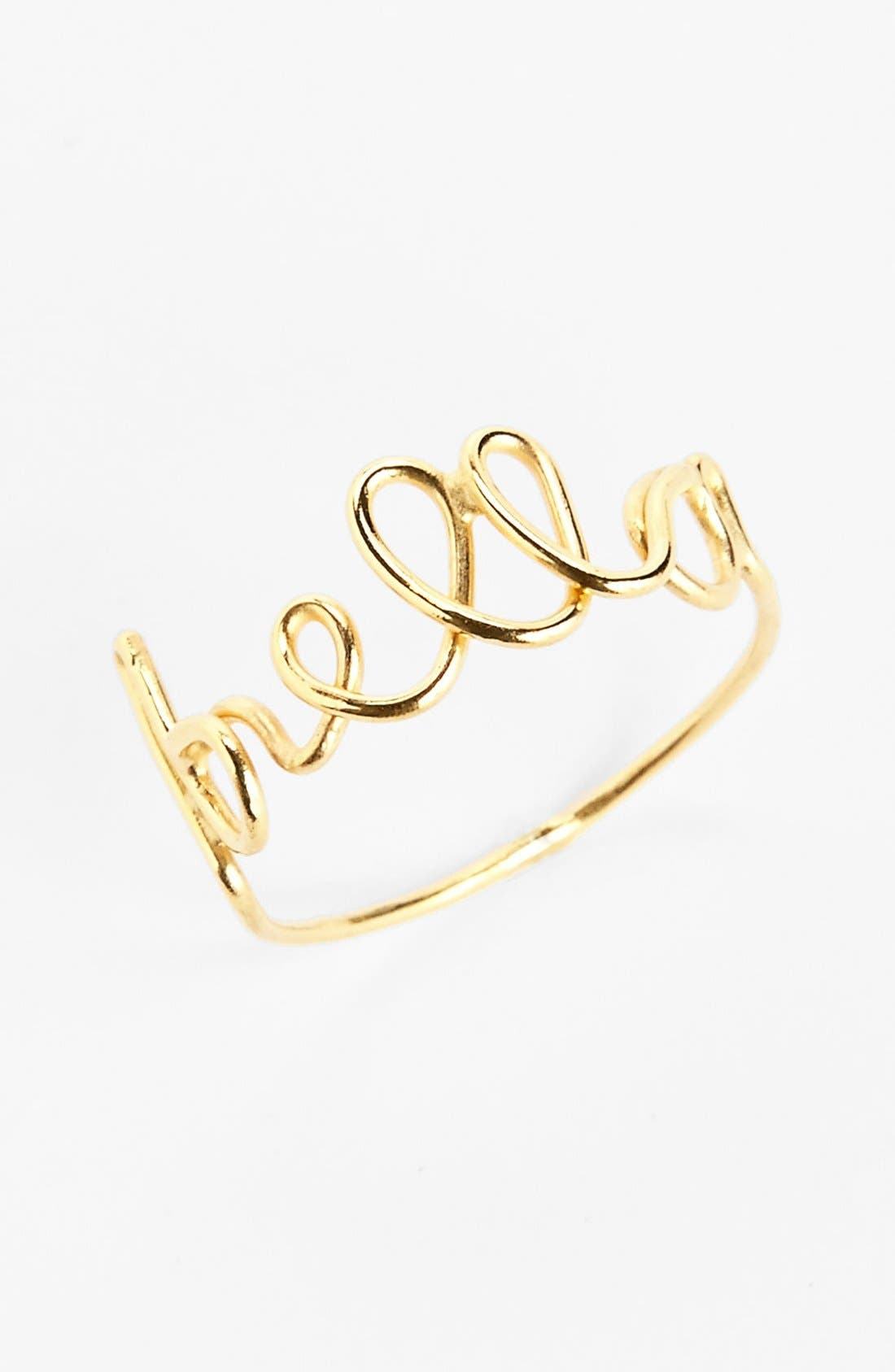 Main Image - South Sun 'Bella' Wire Word Ring (Juniors)