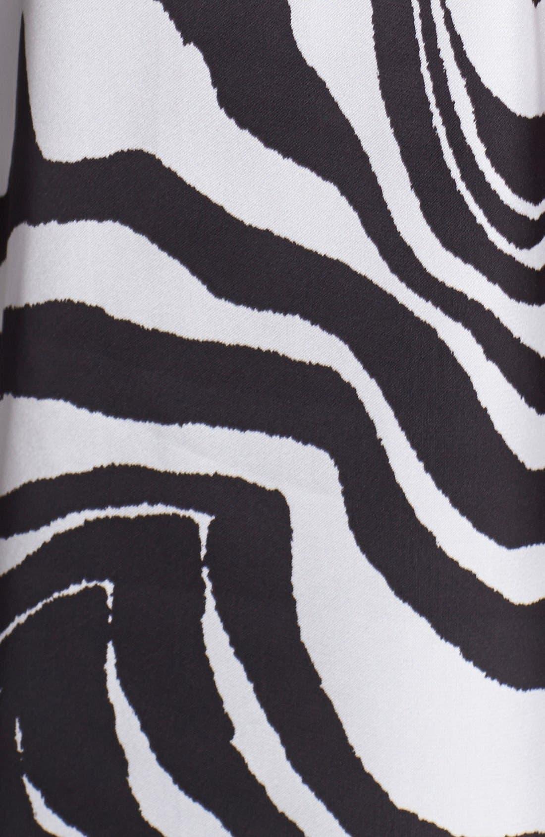 Alternate Image 3  - Vince Camuto Zebra Print High/Low Sleeveless Blouse
