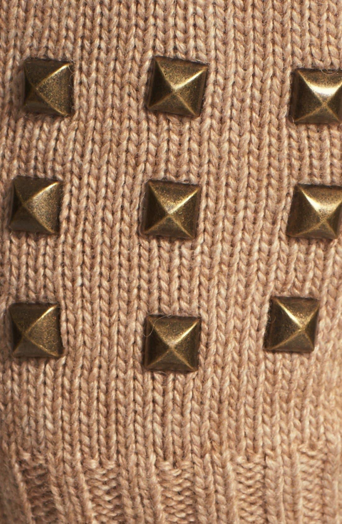 Alternate Image 2  - Lauren Ralph Lauren Studded Fingerless Gloves