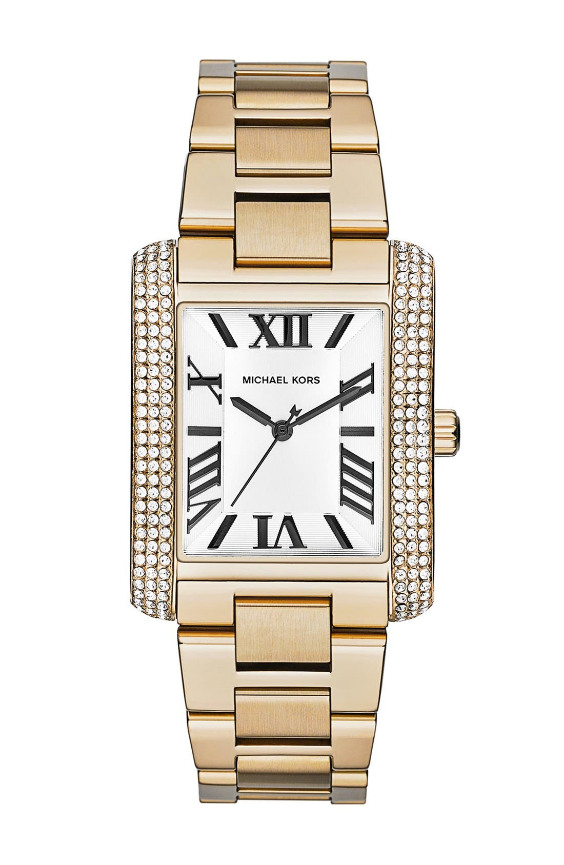 Alternate Image 1 Selected - Michael Kors 'Emery' Crystal Accent Bracelet Watch, 31mm x 40mm