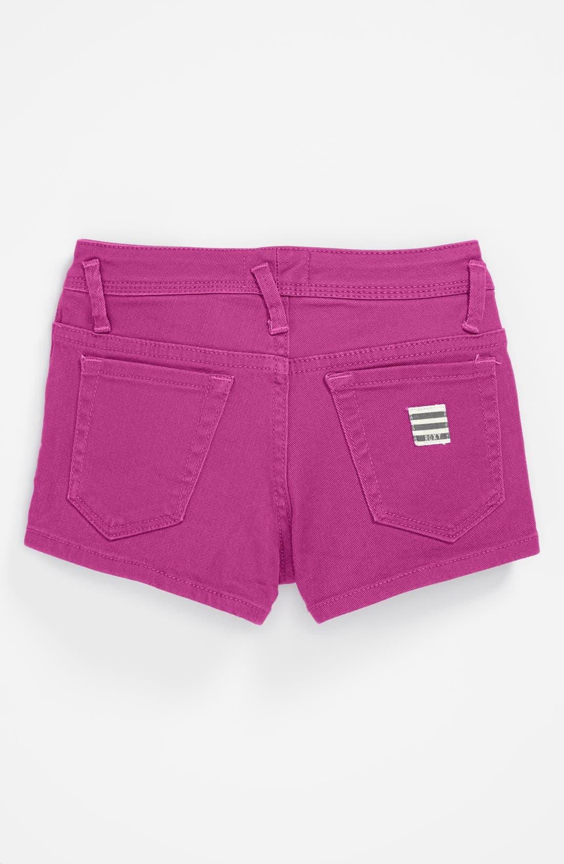 Alternate Image 1 Selected - Roxy 'Ferris Wheel' Denim Shorts (Big Girls)