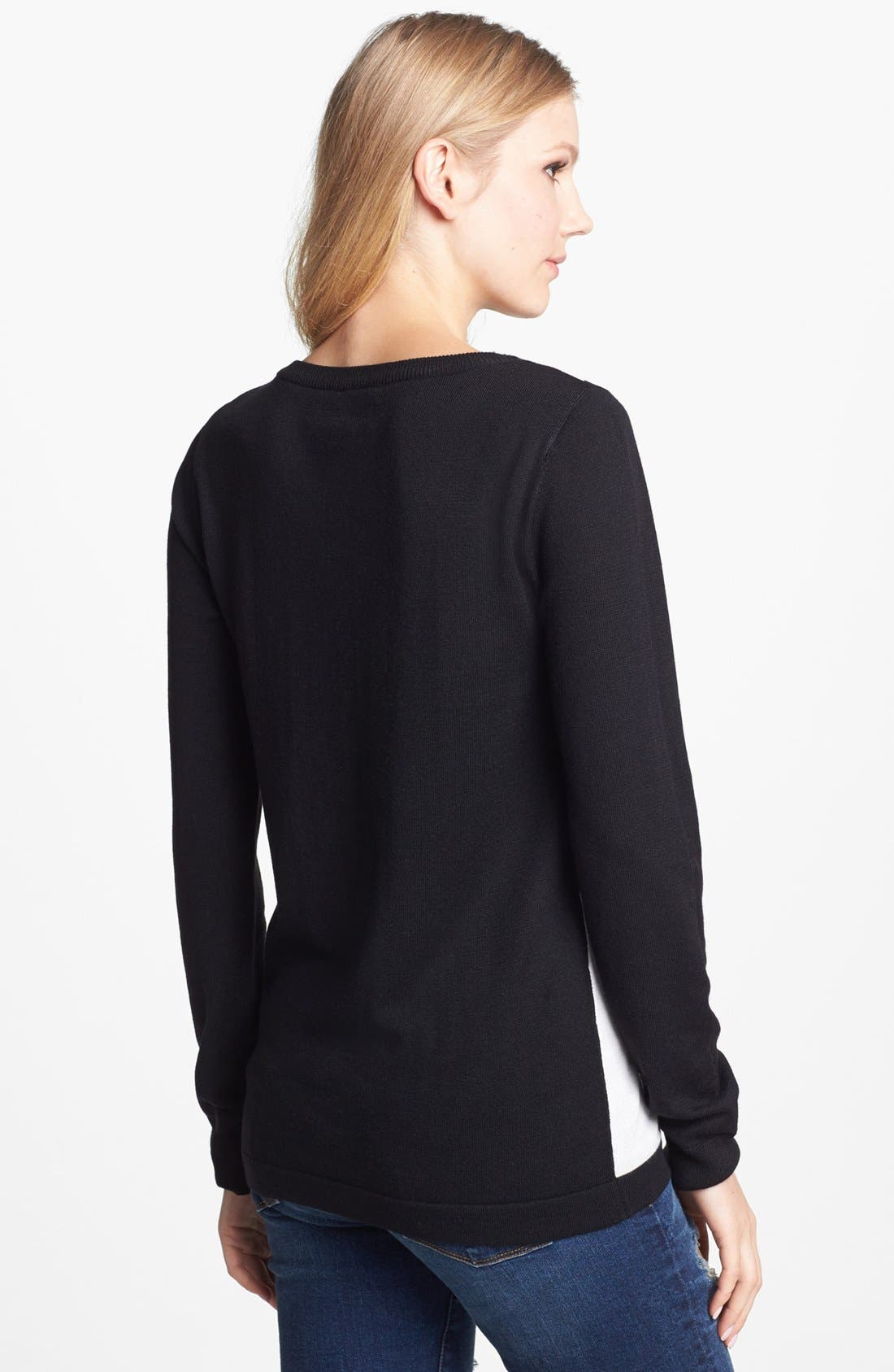 Alternate Image 2  - Vince Camuto Diamond Intarsia Crewneck Sweater