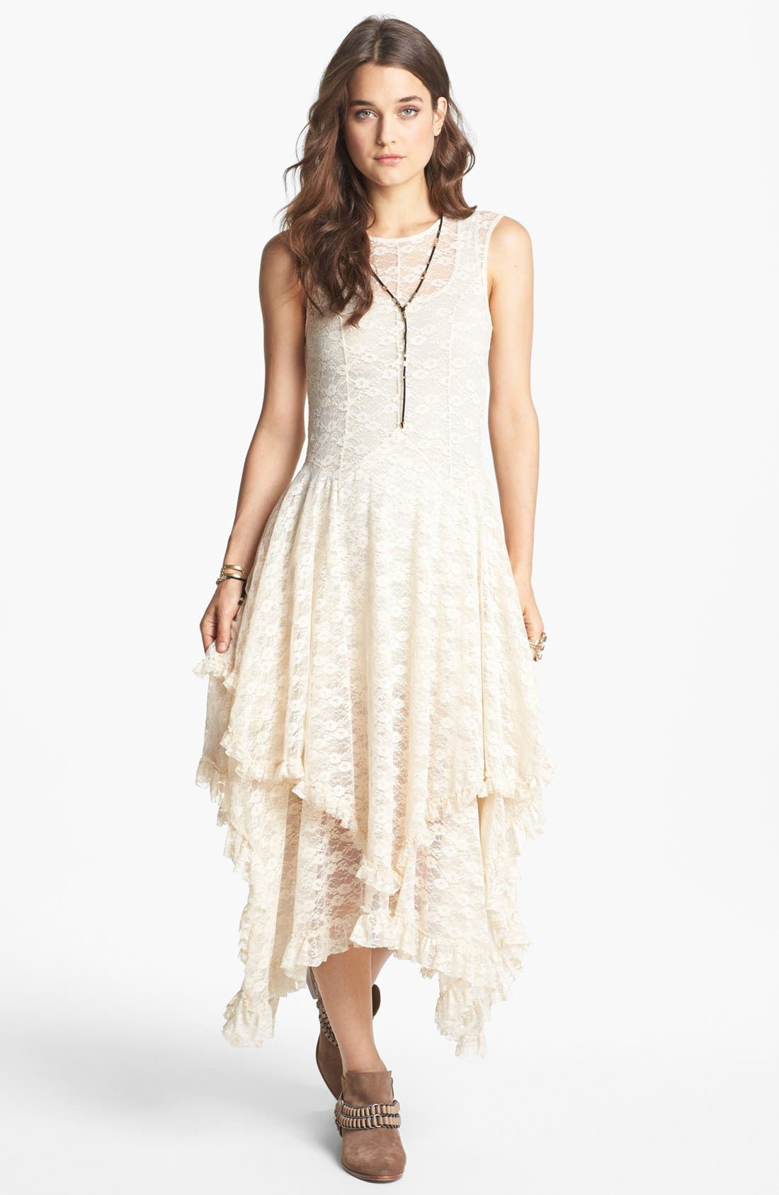 Alternate Image 1 Selected - Free People 'French Court' Lace Slipdress