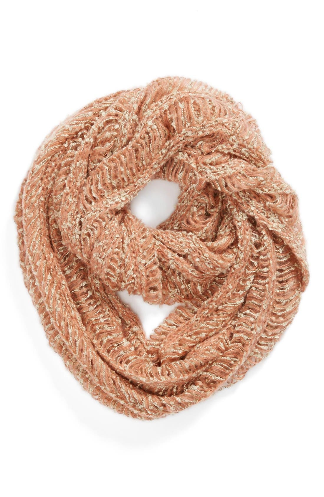 Main Image - David & Young Chunky Open Weave Infinity Scarf (Juniors) (Online Only)