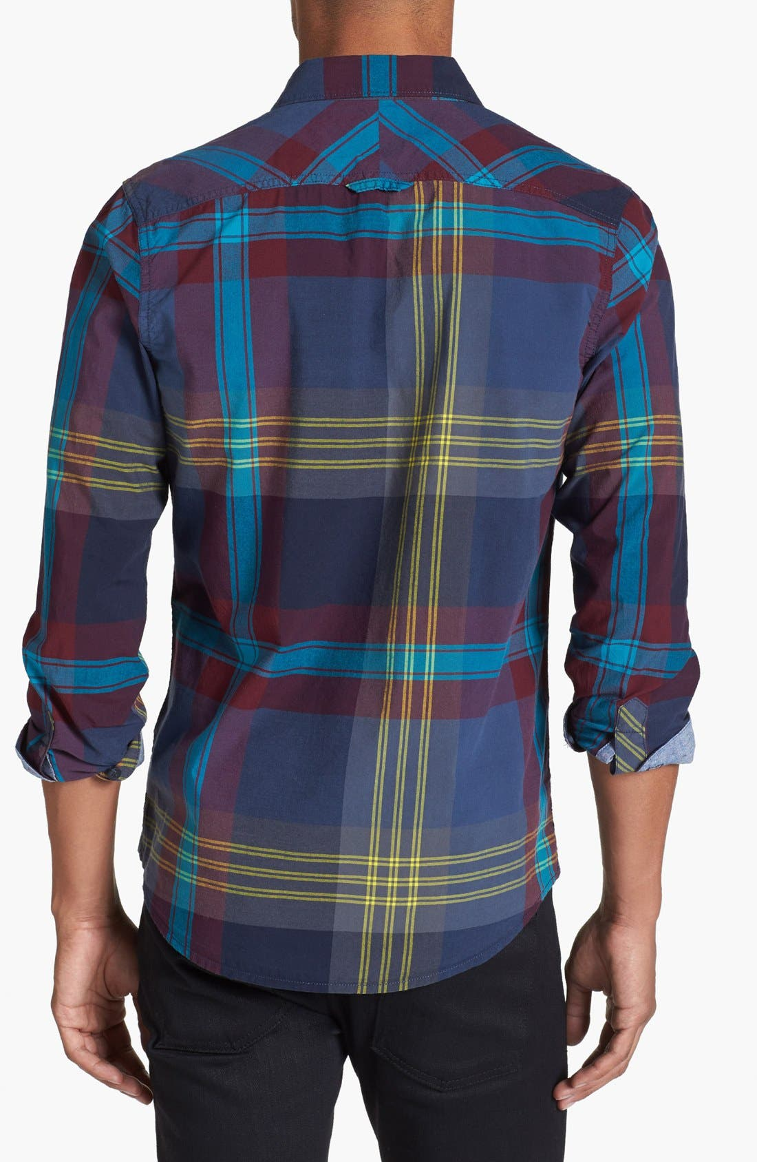 Alternate Image 3  - 1901 Plaid Poplin Shirt